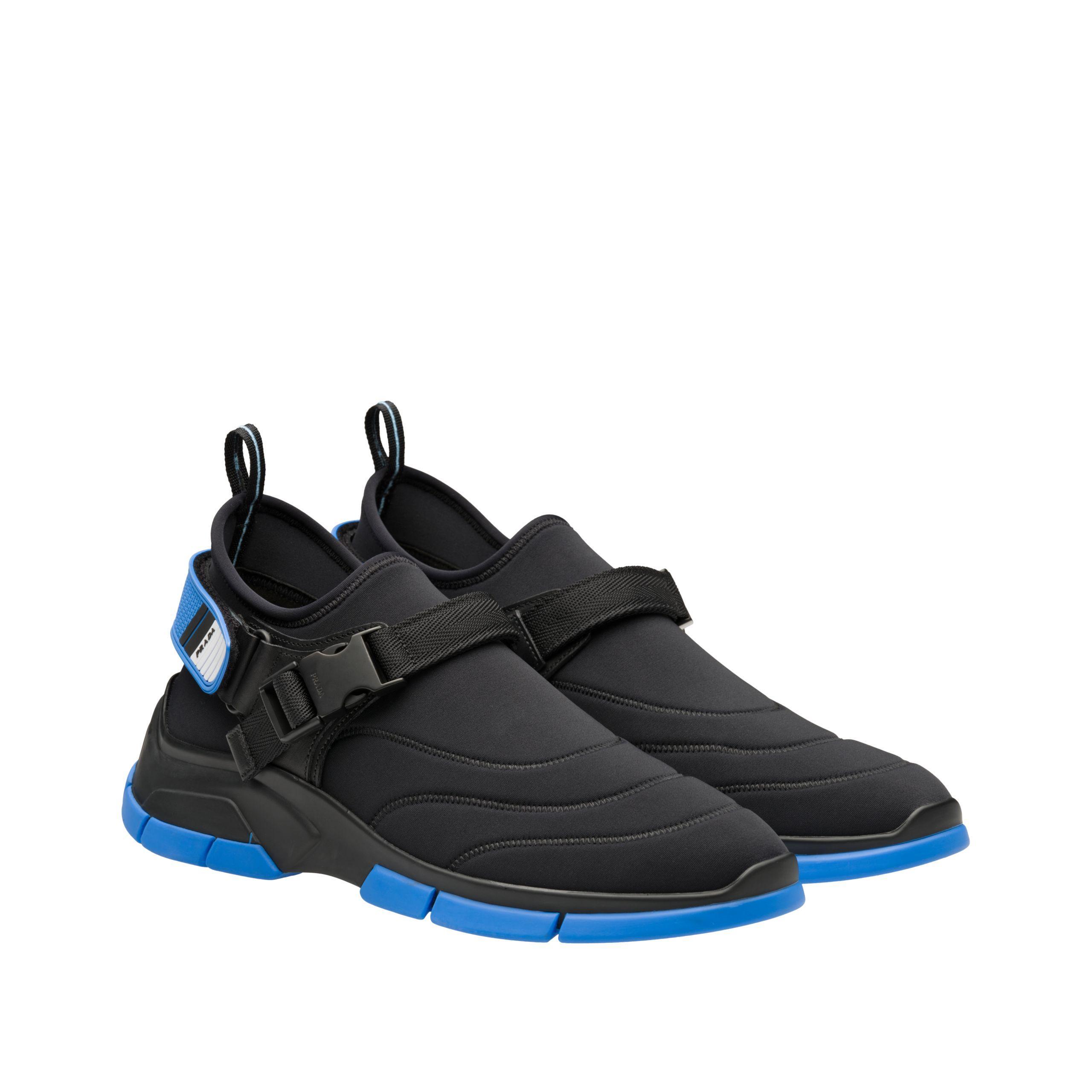 Prada Neoprene Sneakers With Decorative