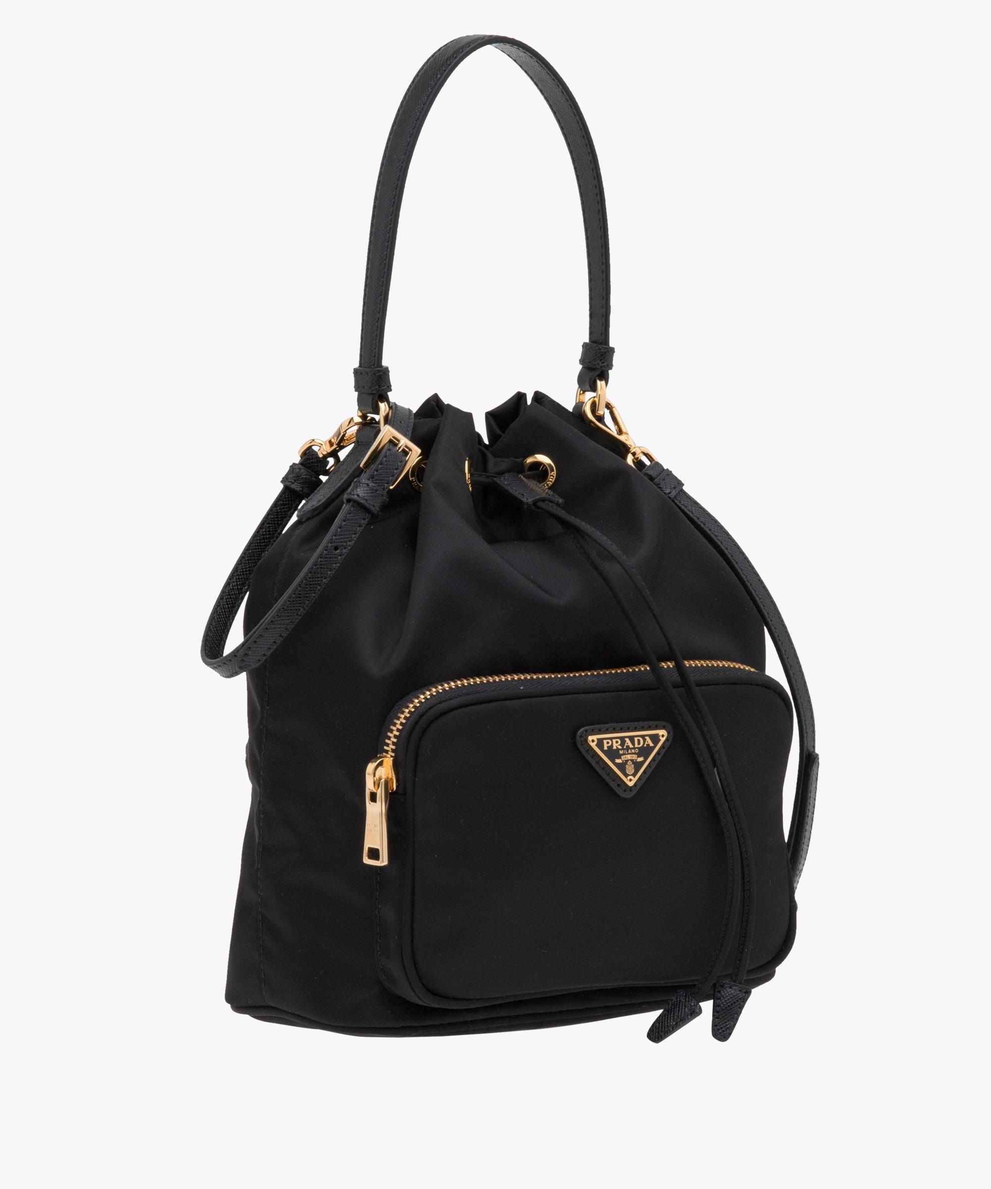 4f076aba60 ... new style lyst prada fabric mini bag in black 52625 87231