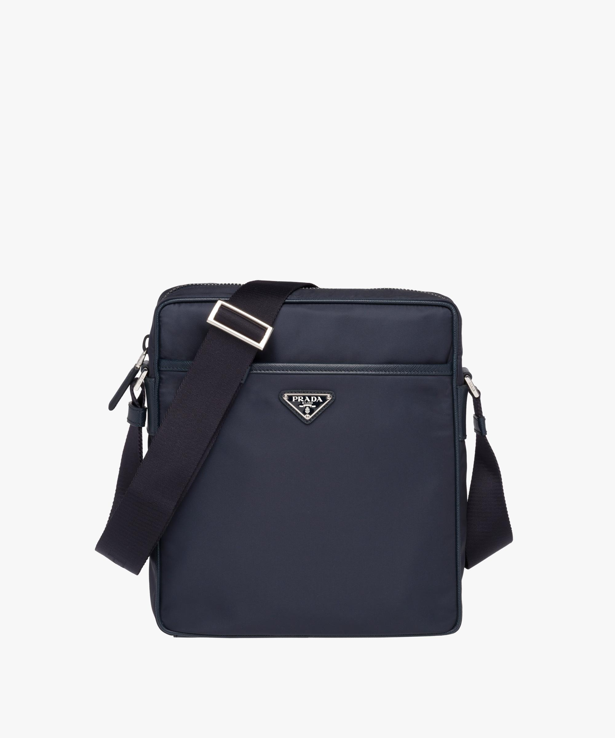 51556d014159 ... wholesale lyst prada messenger bag in blue for men 520f3 636d5