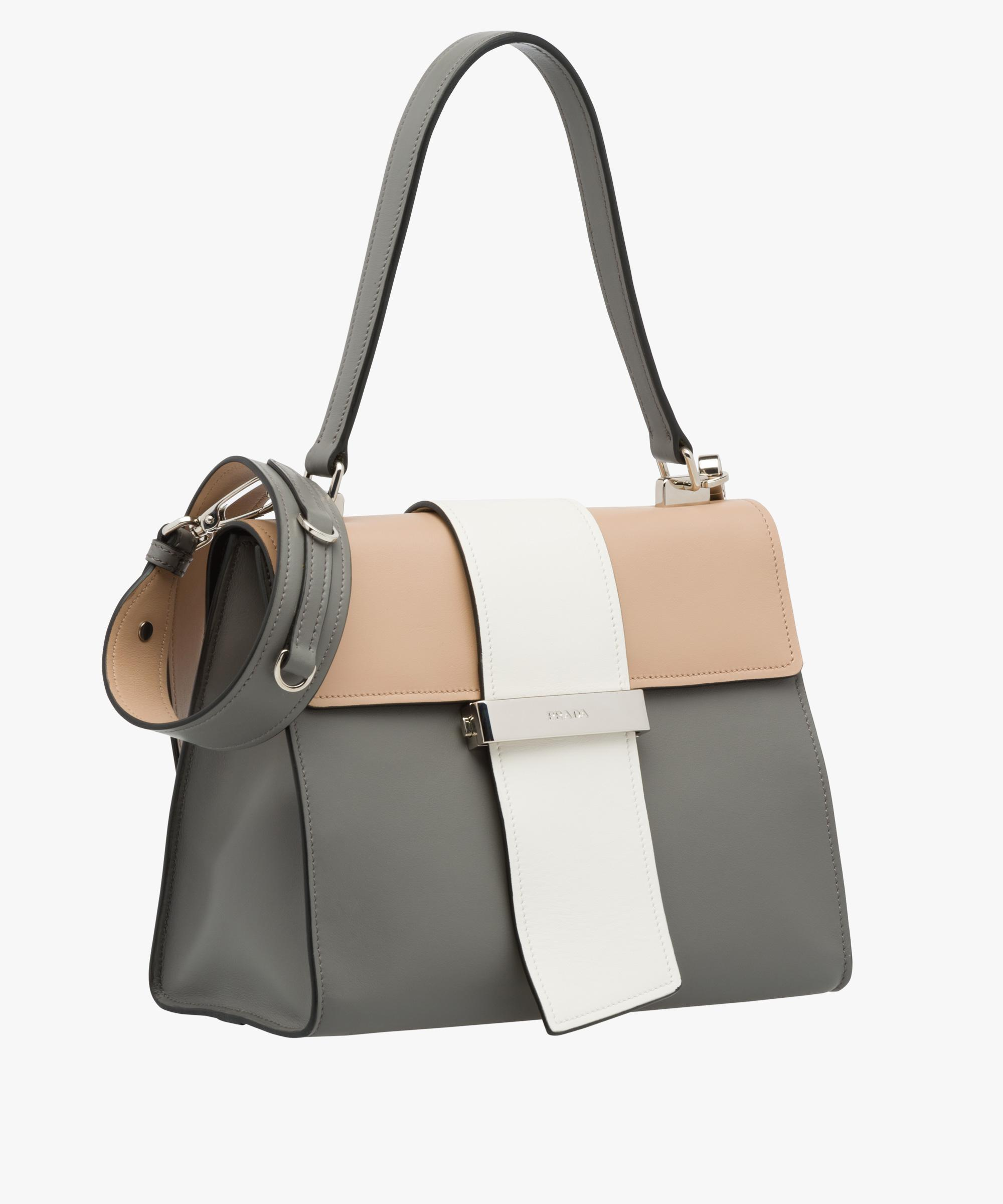 9d834faadc364f Prada Metal Ribbon Leather Shoulder Bag - Lyst