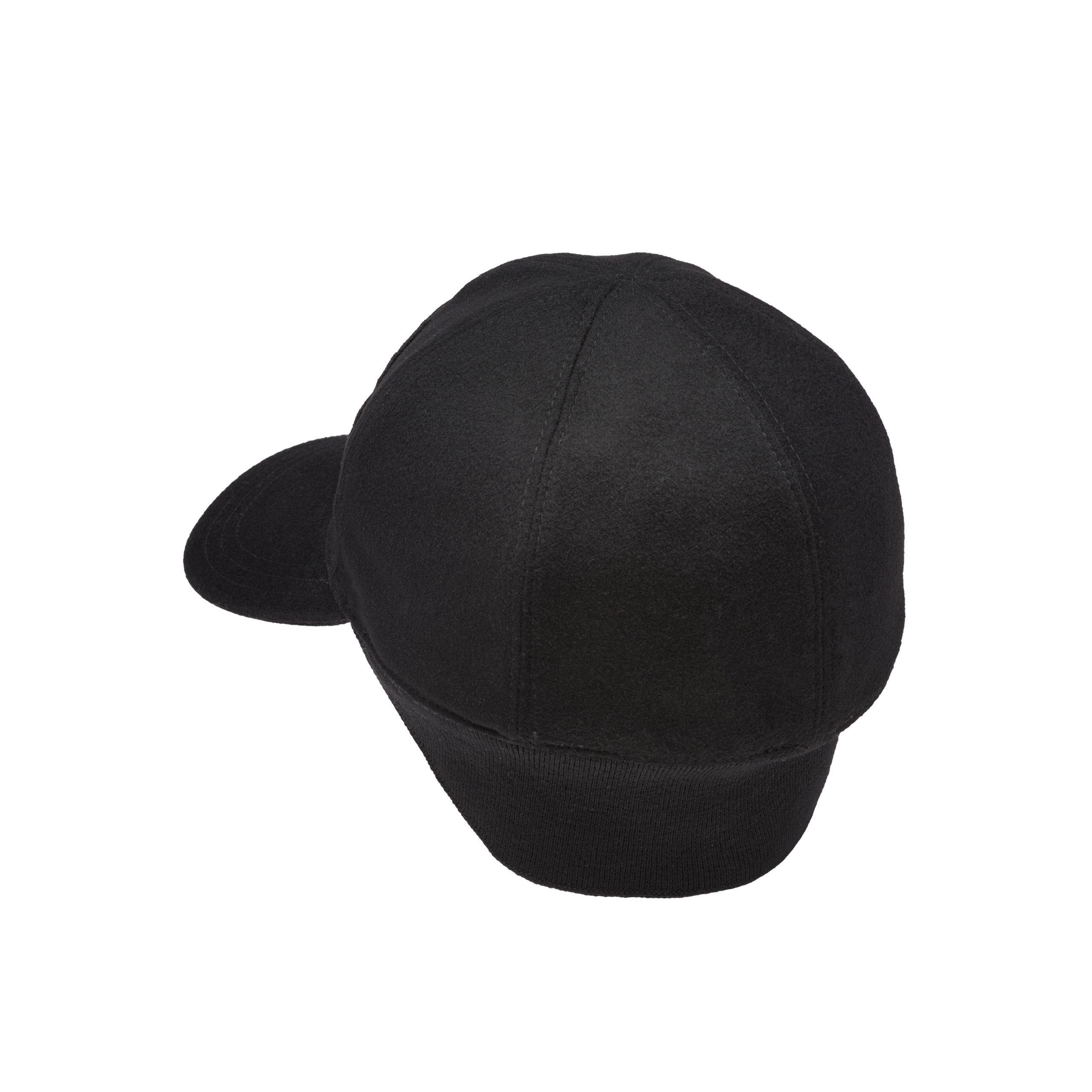 12bf2e7df9f Prada - Black Wool Visor Cap for Men - Lyst. View fullscreen