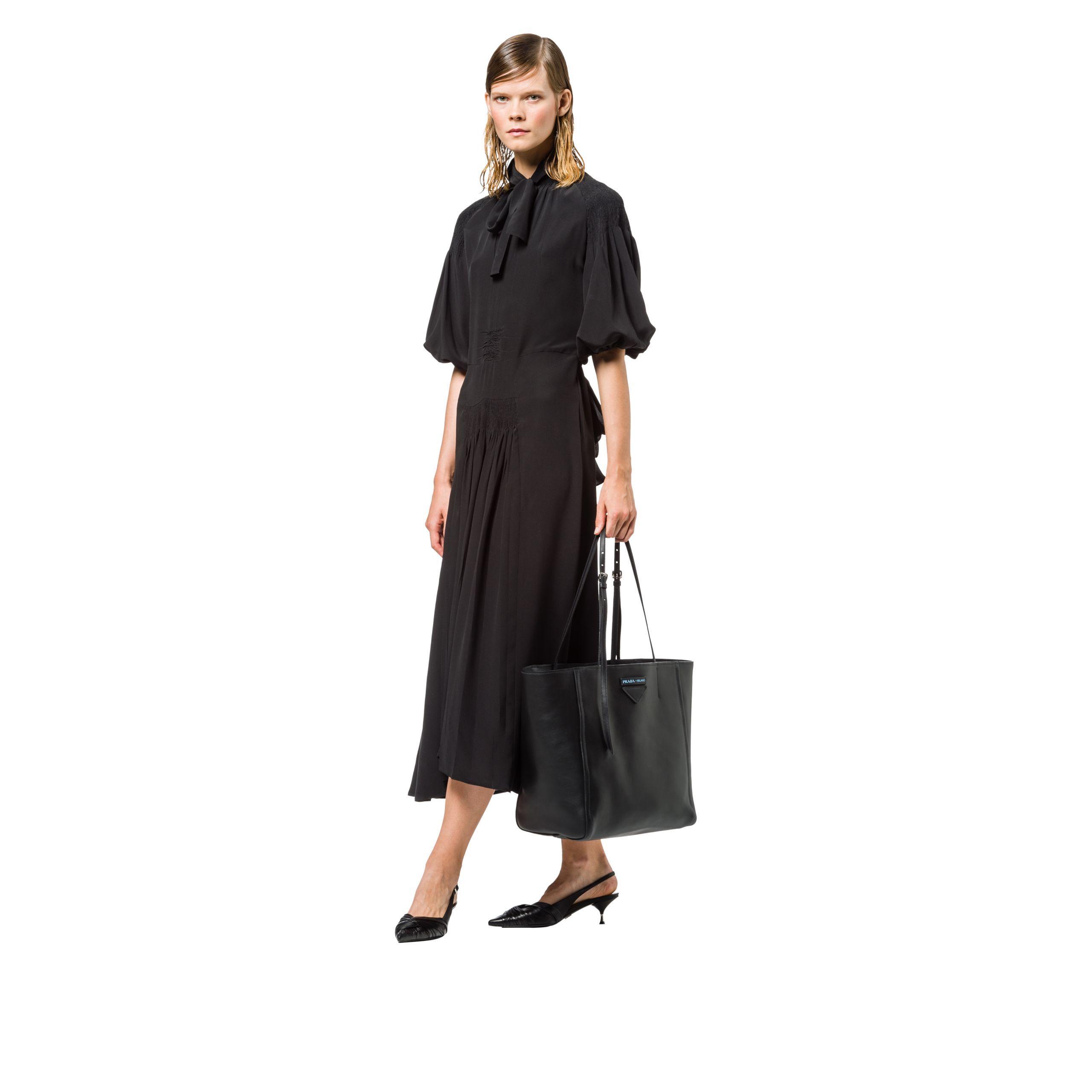 61abe80a3373ee Prada Concept Medium Leather Tote in Black - Lyst