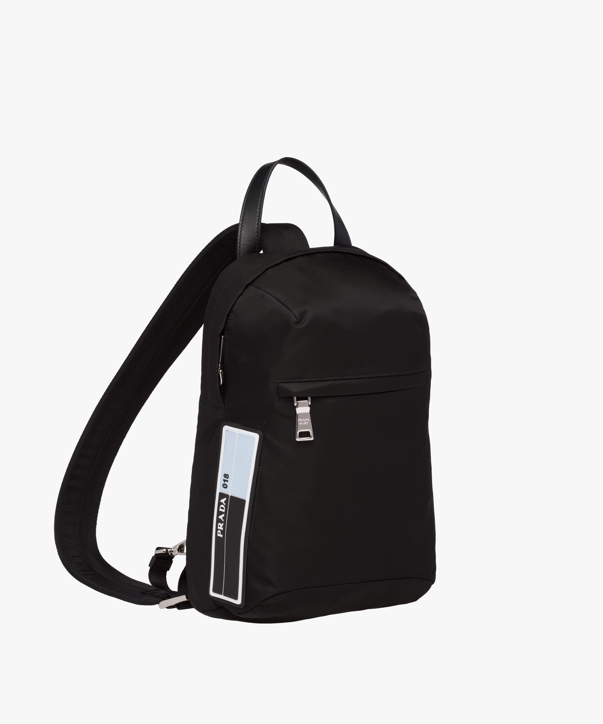 34dbd8f02d1e ... where to buy lyst prada nylon one shoulder backpack in black for men  c488c 0220b