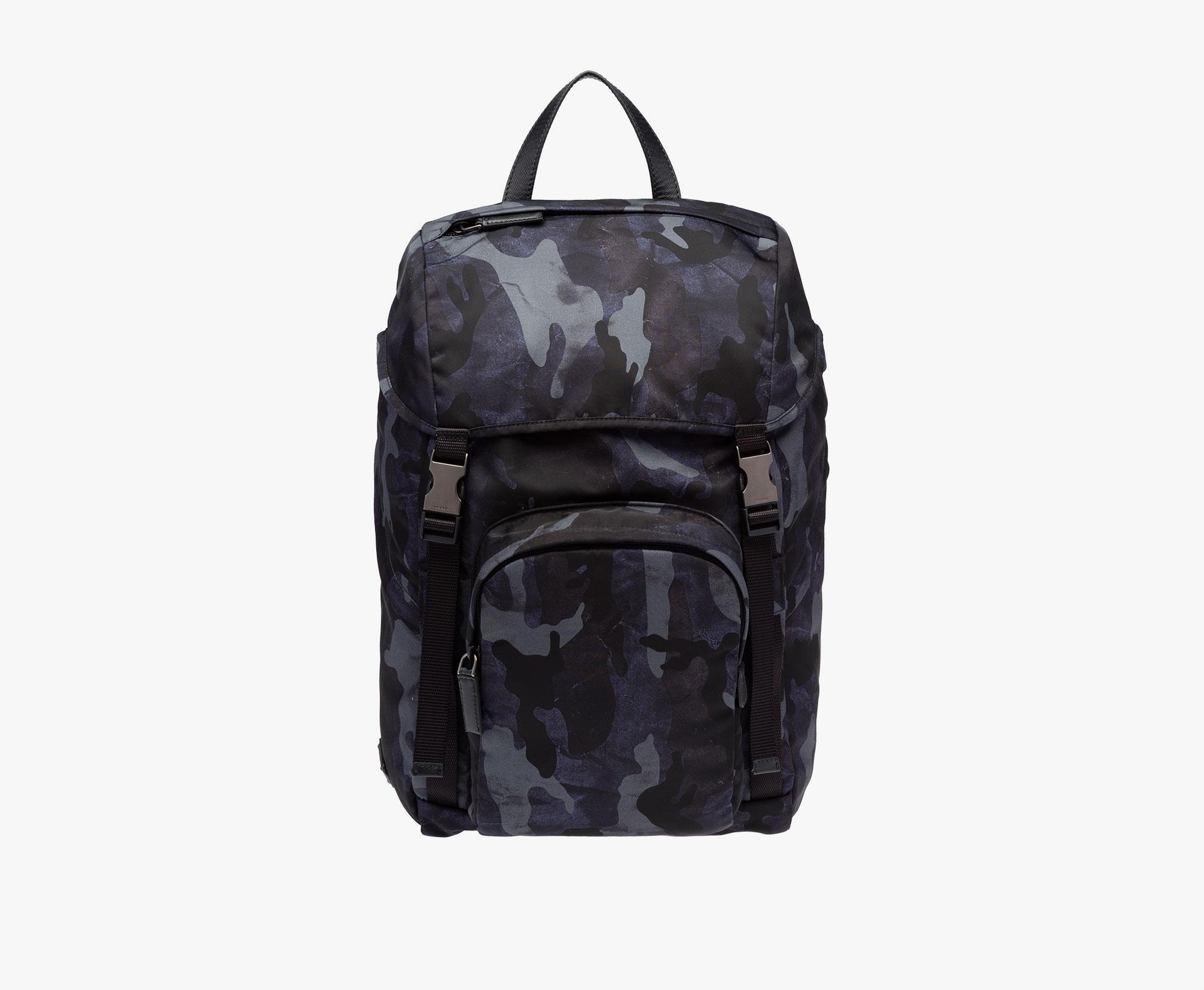 de40143d74197 ... low cost lyst prada fabric backpack in blue for men 80d6e 3a057