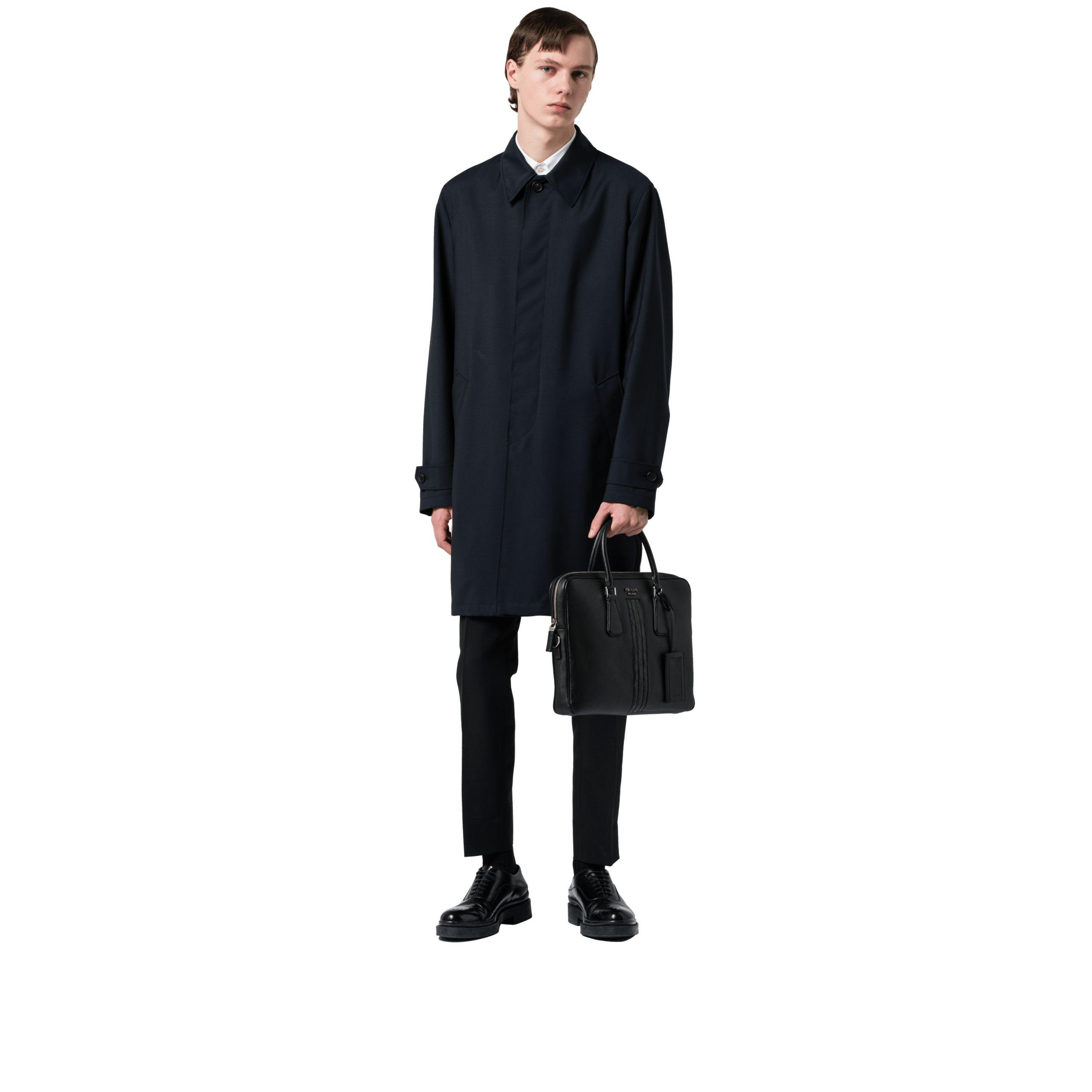 a3093a80f6eeb Lyst - Prada Saffiano Leather Work Bag in Black for Men