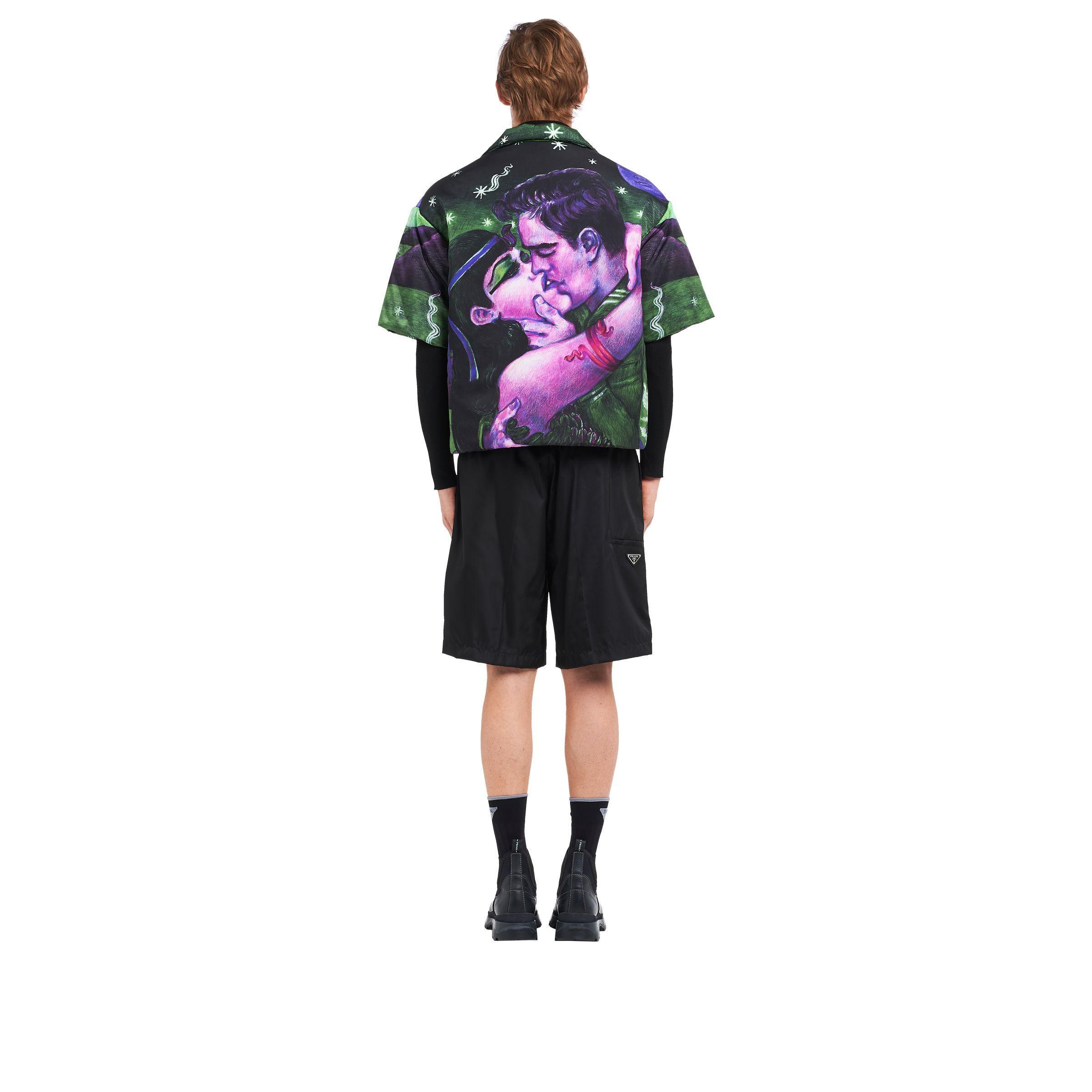 d109ca57e0 Men's Padded Nylon Gabardine Shirt