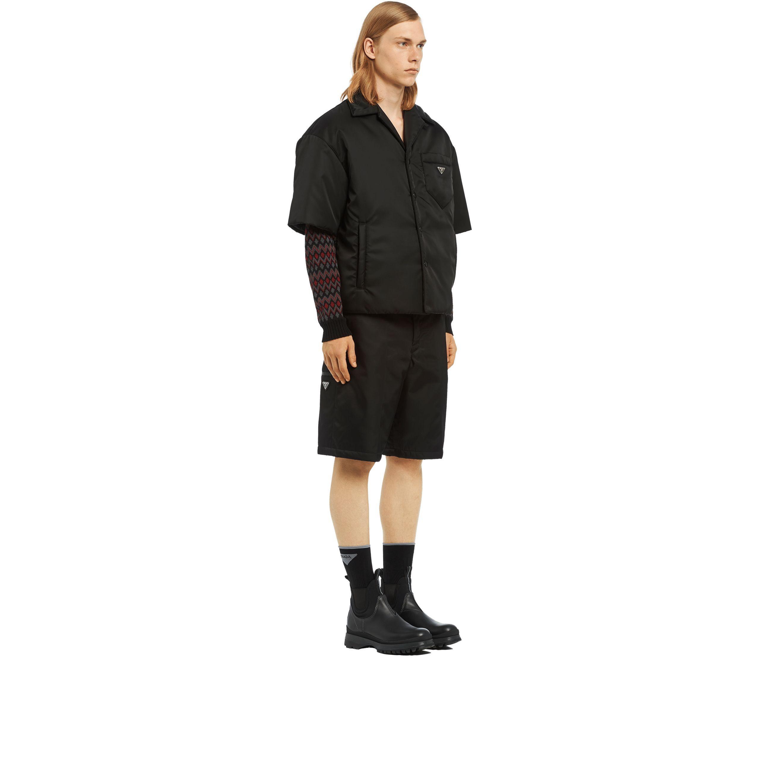 700d244a52 Men's Black Padded Nylon Gabardine Shirt