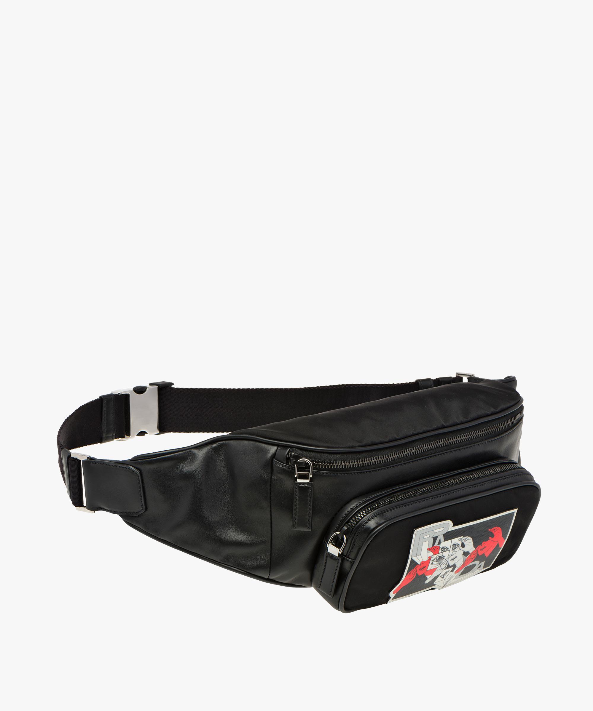 aae160625fb7 Prada Technical Fabric Belt Bag in Black for Men - Lyst