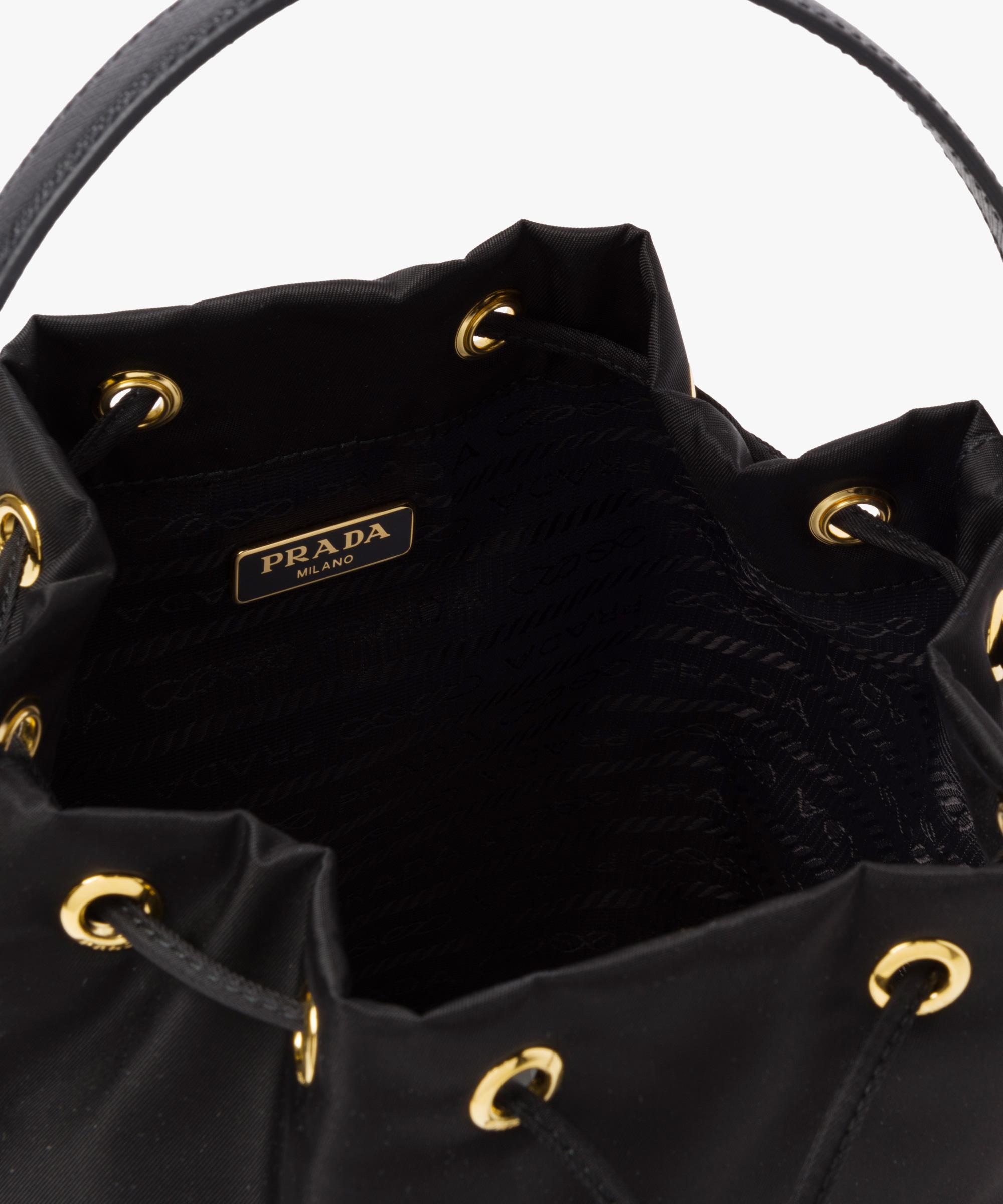 2dc527343c8fe3 ... new style lyst prada fabric mini bag in black 155b1 cbe0d ...