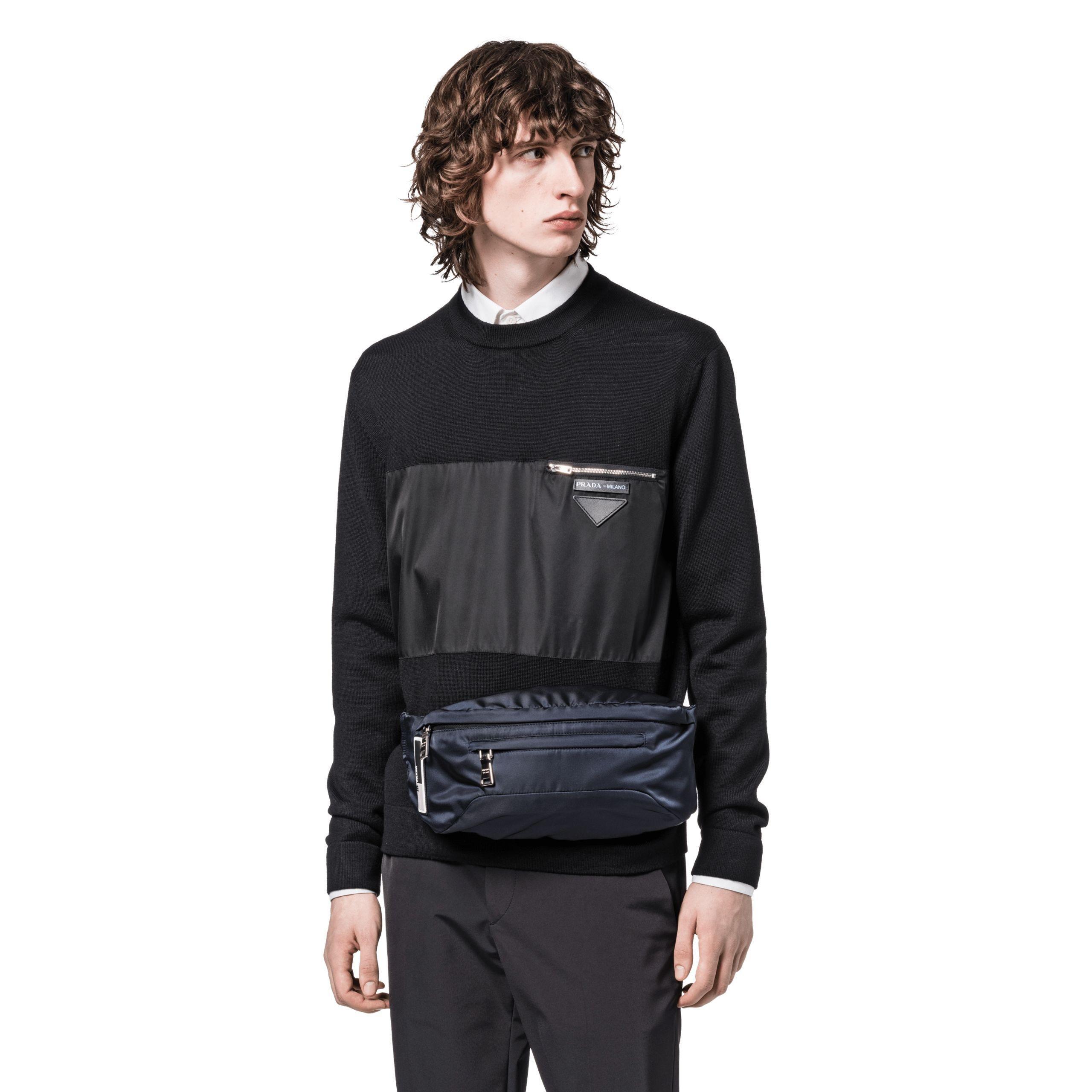 b5ab72c0138f Prada Technical Fabric Belt Bag in Blue for Men - Lyst