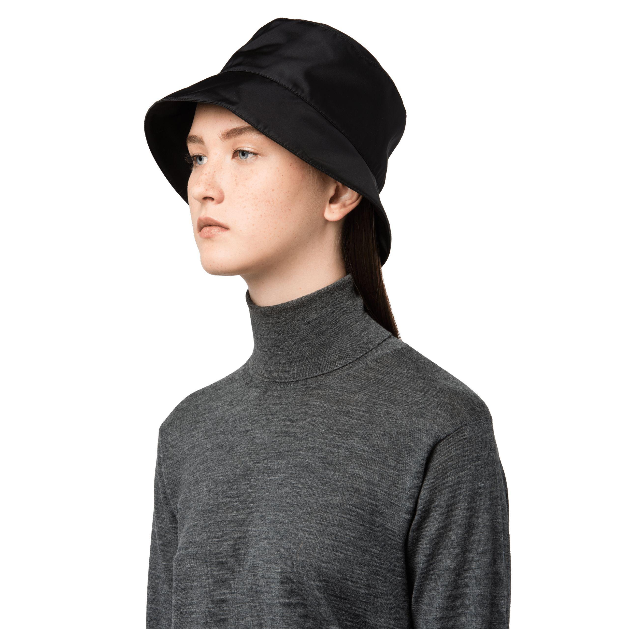 Lyst - Prada Nylon Rain Hat in Black 4575c1a912eb