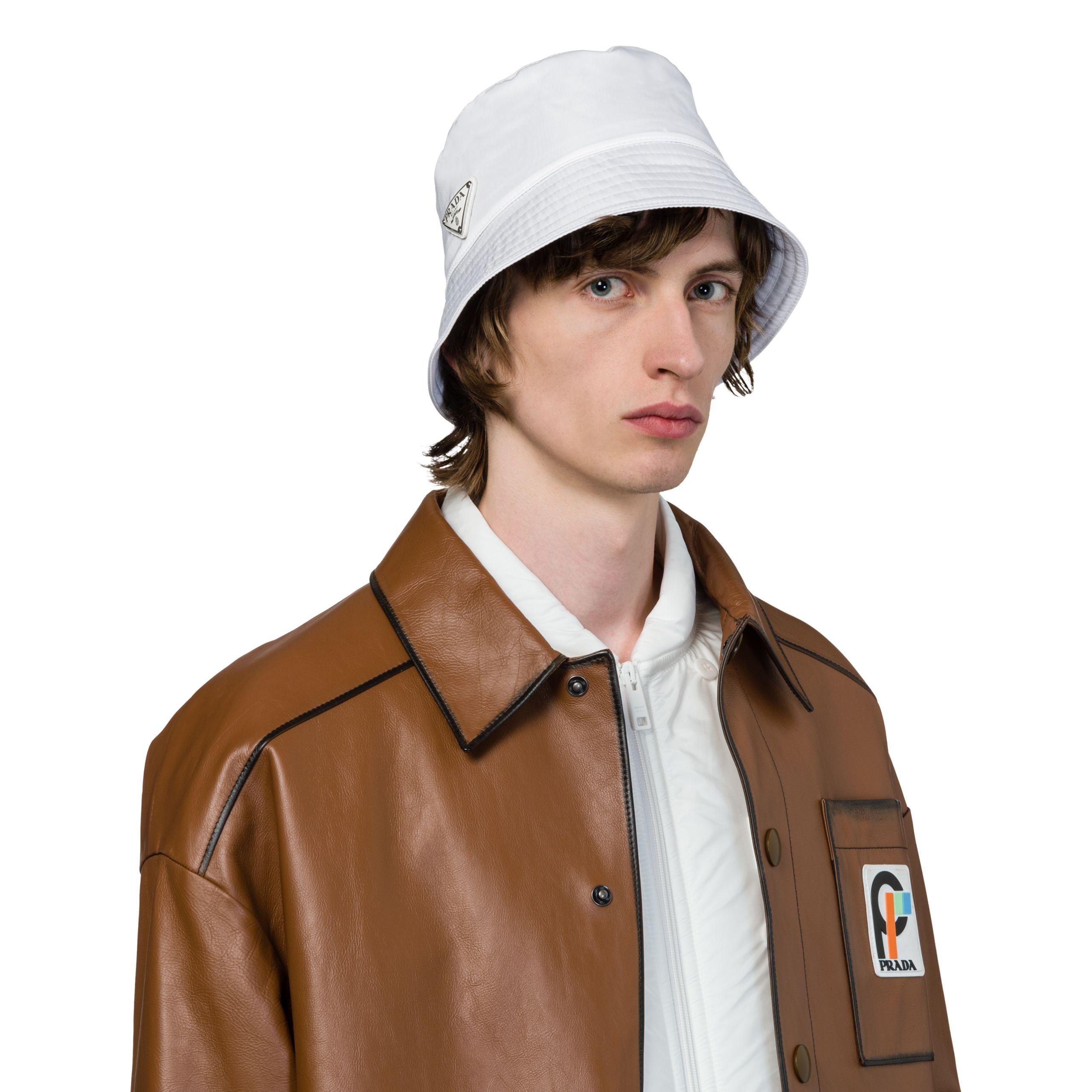 1dfb590c763 Lyst - Prada Nylon Rain Hat for Men