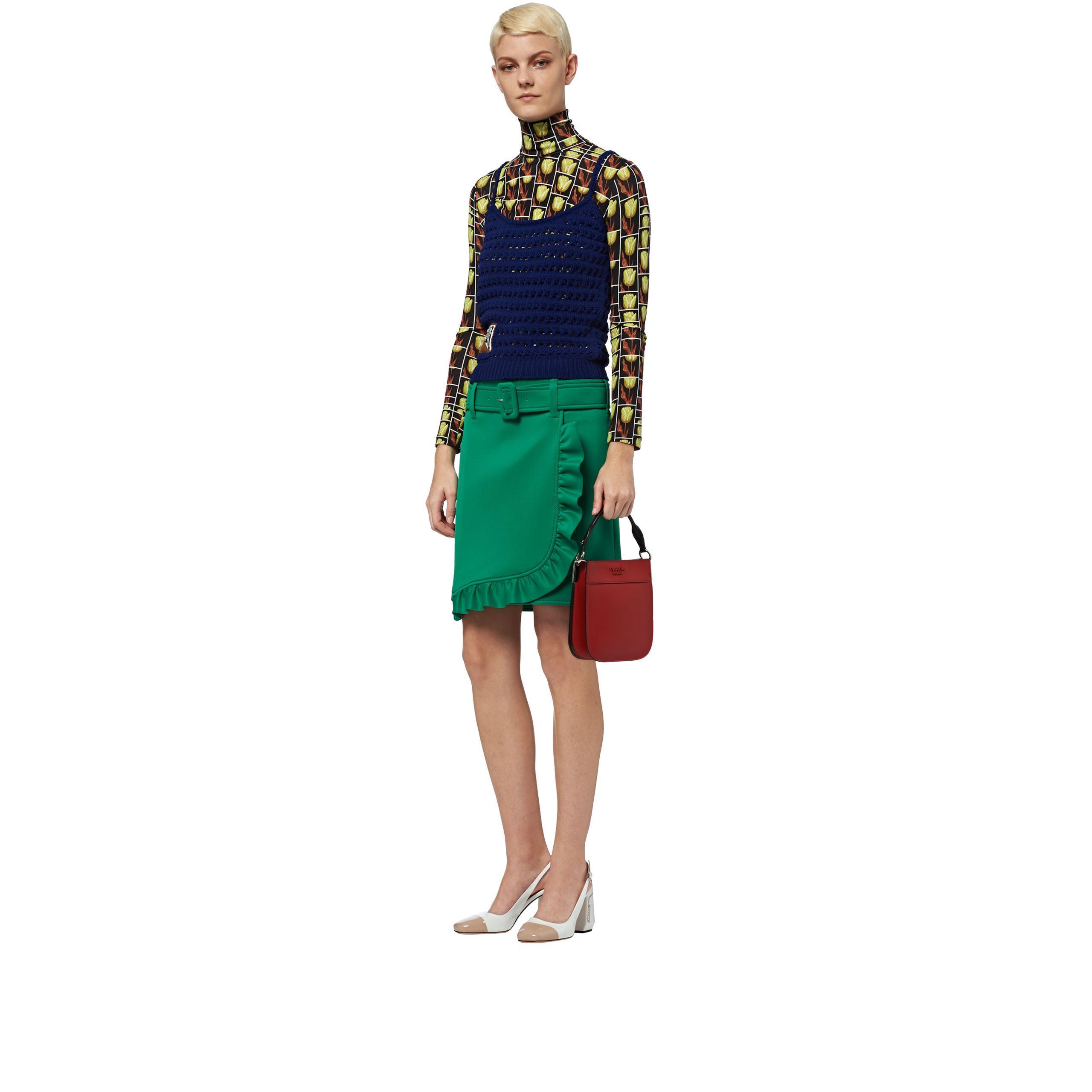 da88b50bff04 Lyst - Prada Margit Small Leather Bag in Red