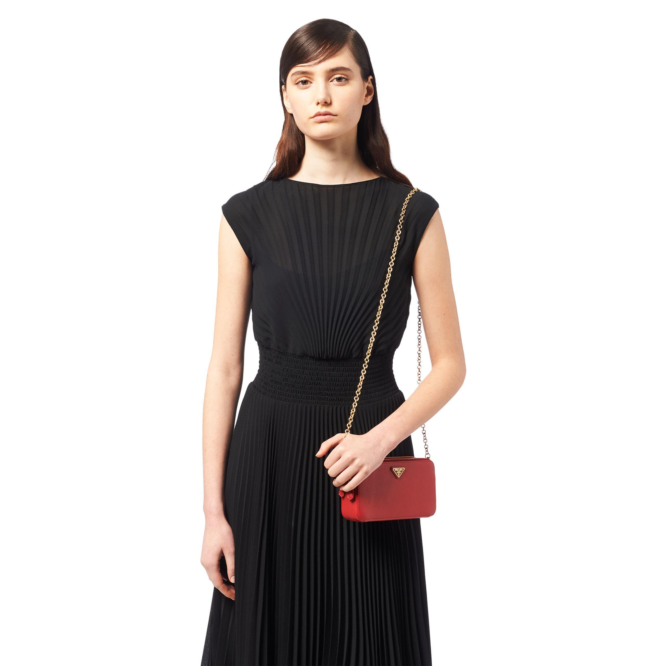 1f6f7413 Women's Red Saffiano Leather Mini Shoulder Bag