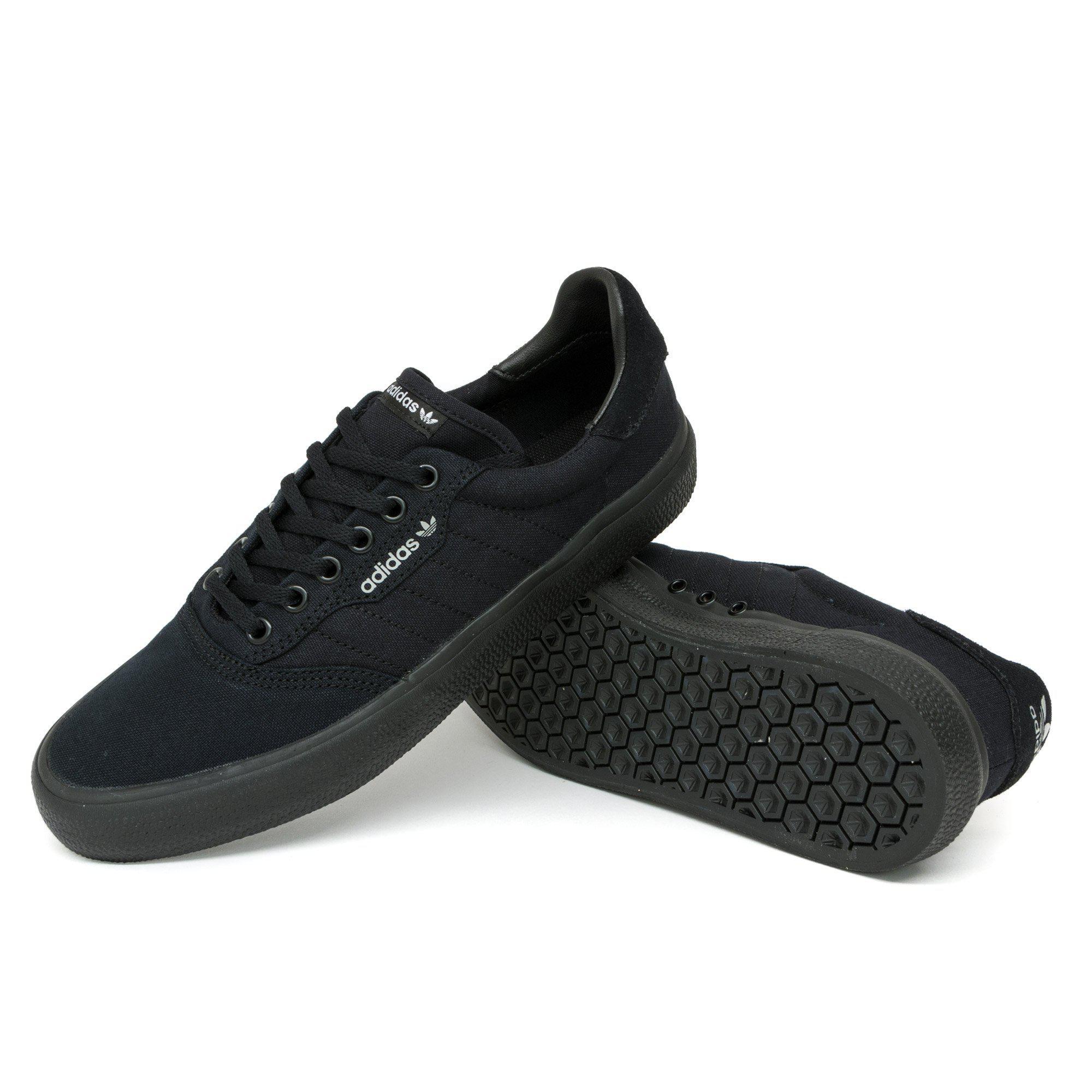 adidas Canvas 3mc Vulc Shoes in Black