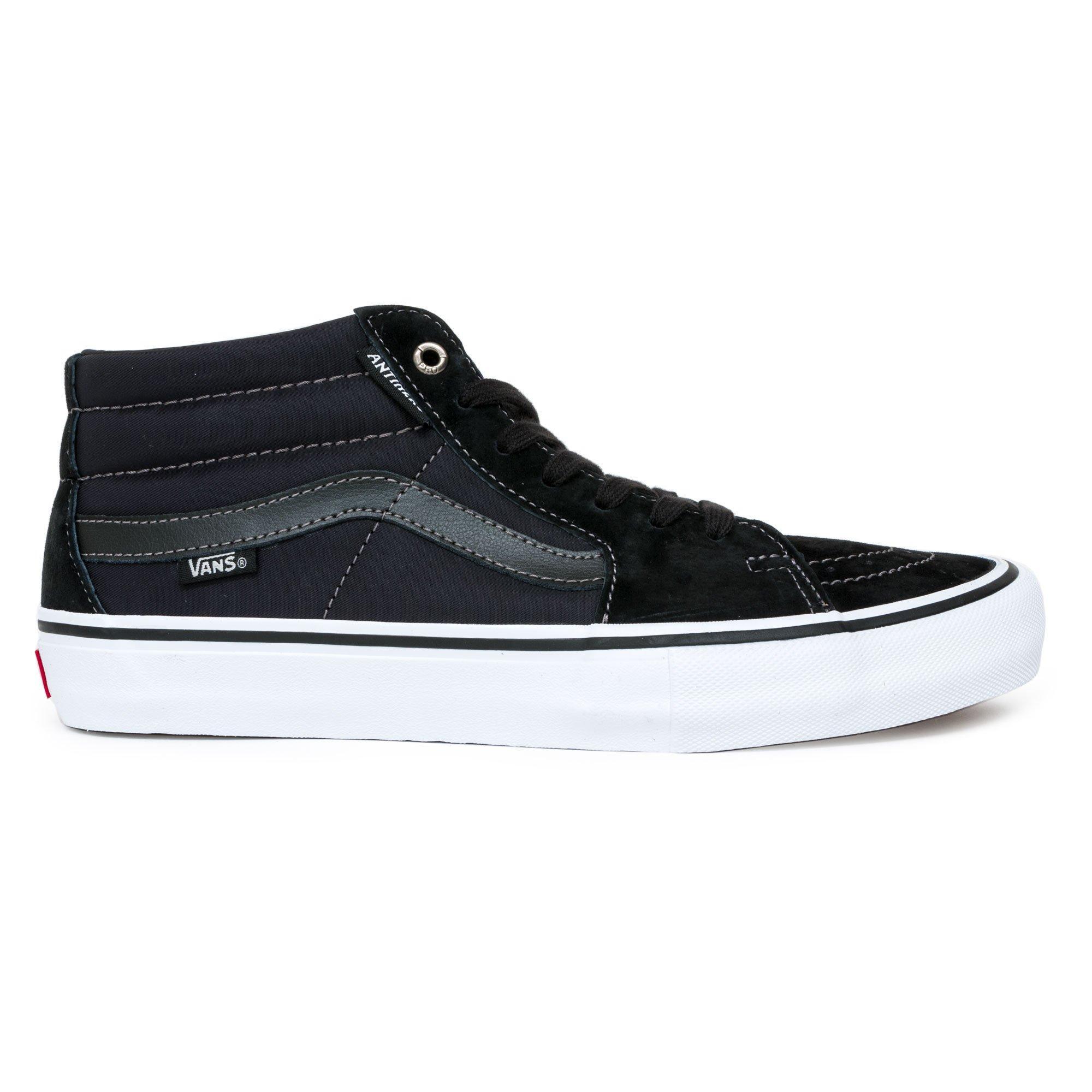 Vans Suede X Anti Hero Sk8-mid Pro Skateboarding Shoes in Black ...