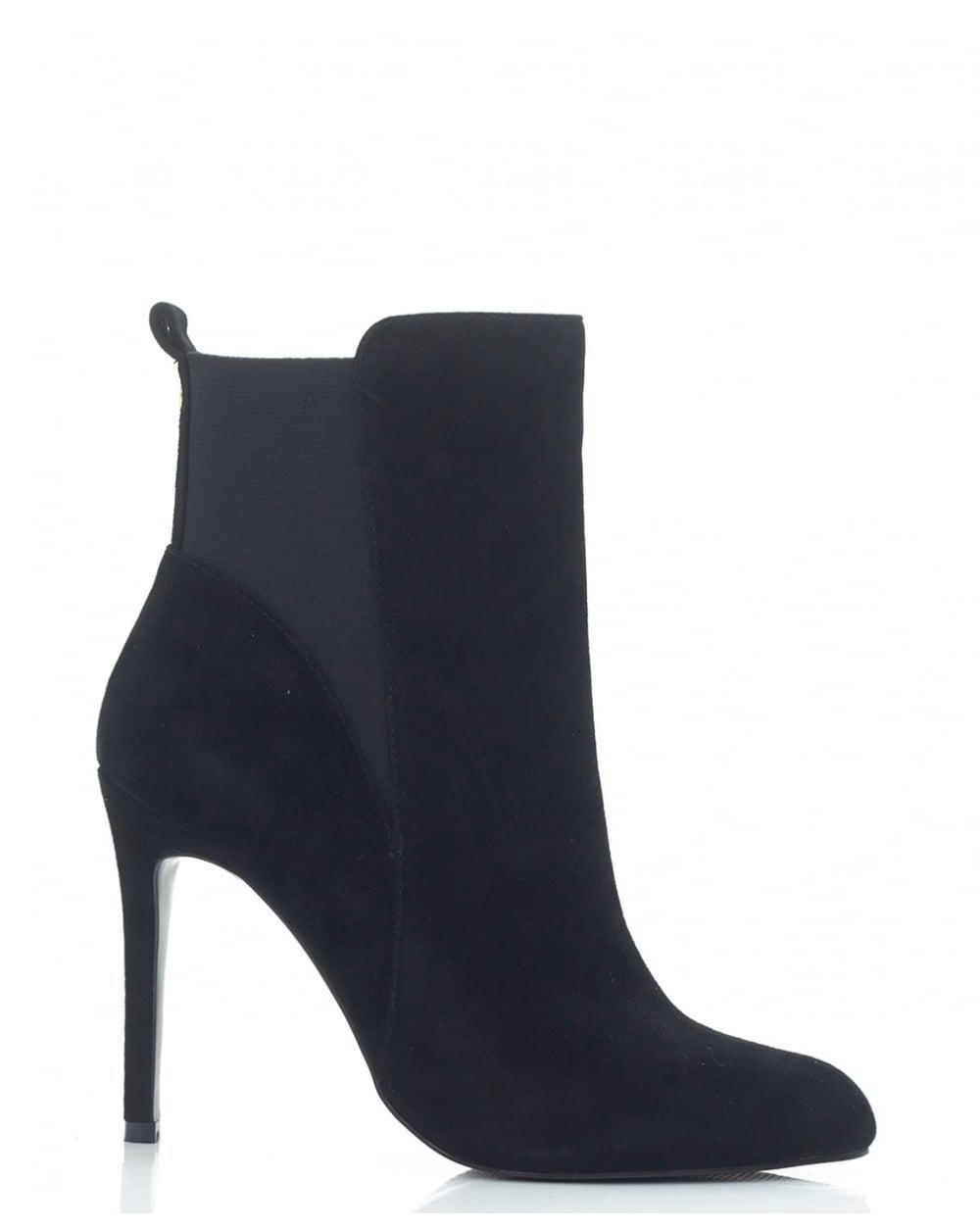 Lyst - Moda In Pelle Pointed Toe High Heel Ankle Boots in Black 8775579e8d3b