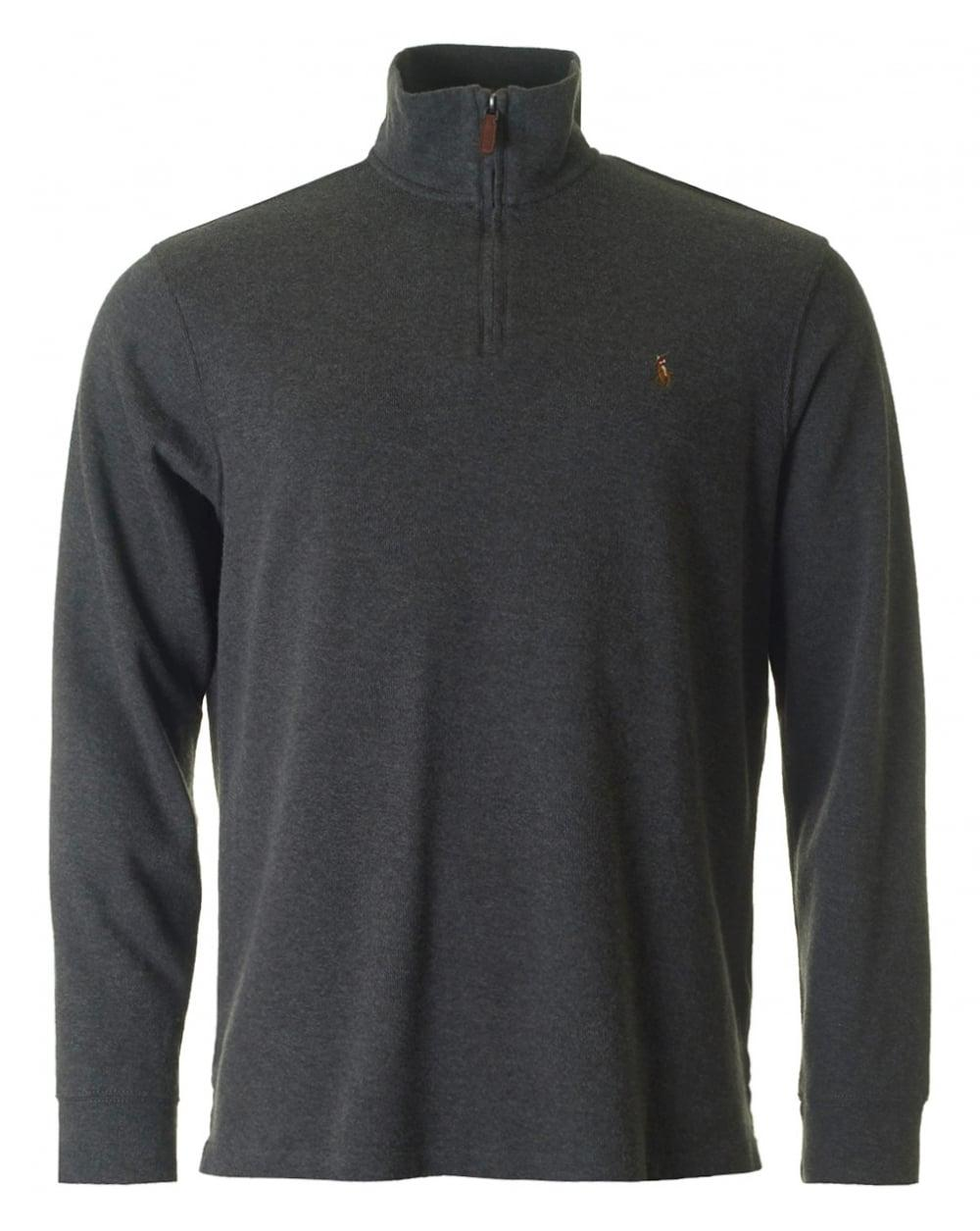436bae78c8524 Lyst - Polo Ralph Lauren Half Zip Through Sweat in Gray .
