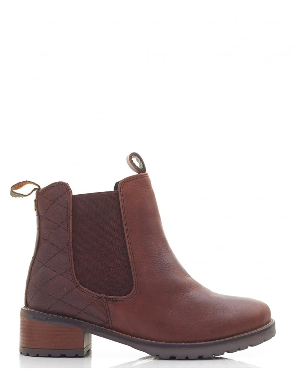 barbour latimer chunky chelsea boots in brown lyst