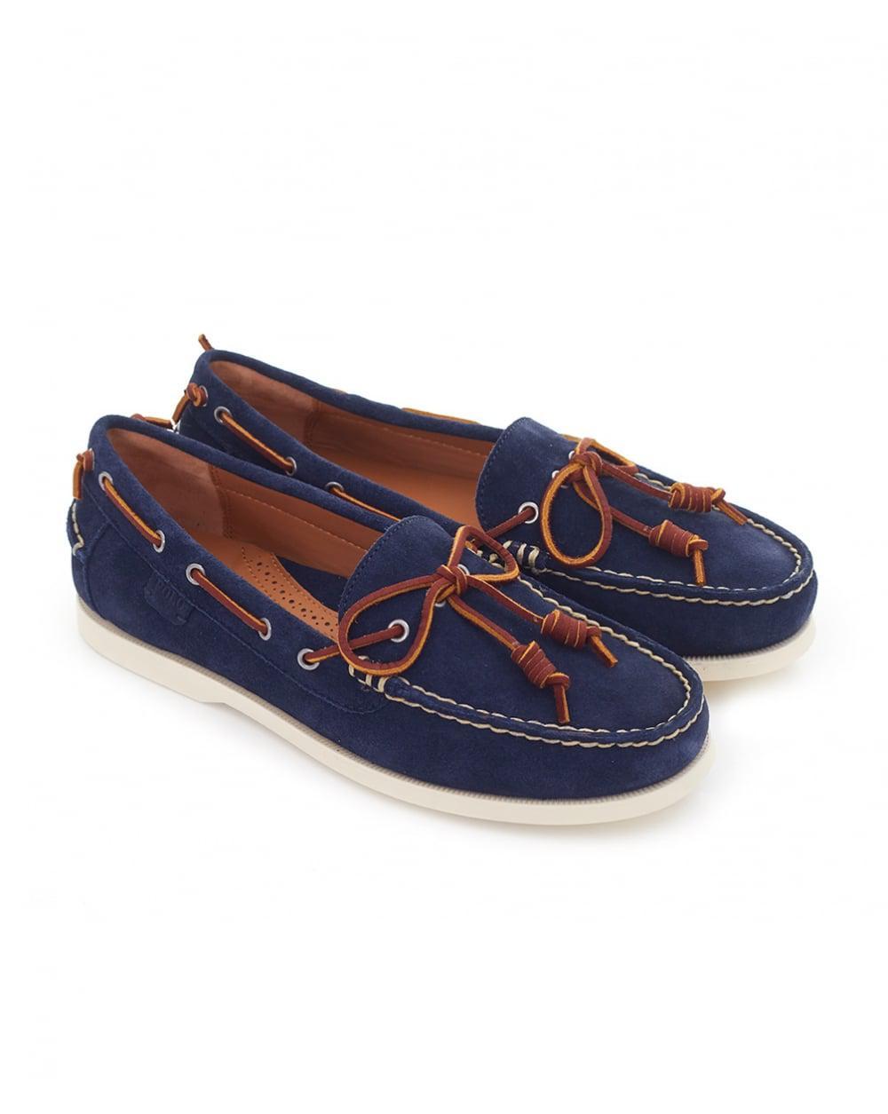 Lyst - Polo Ralph Lauren Millard Suede Boat Shoes in Blue bde3df42c50