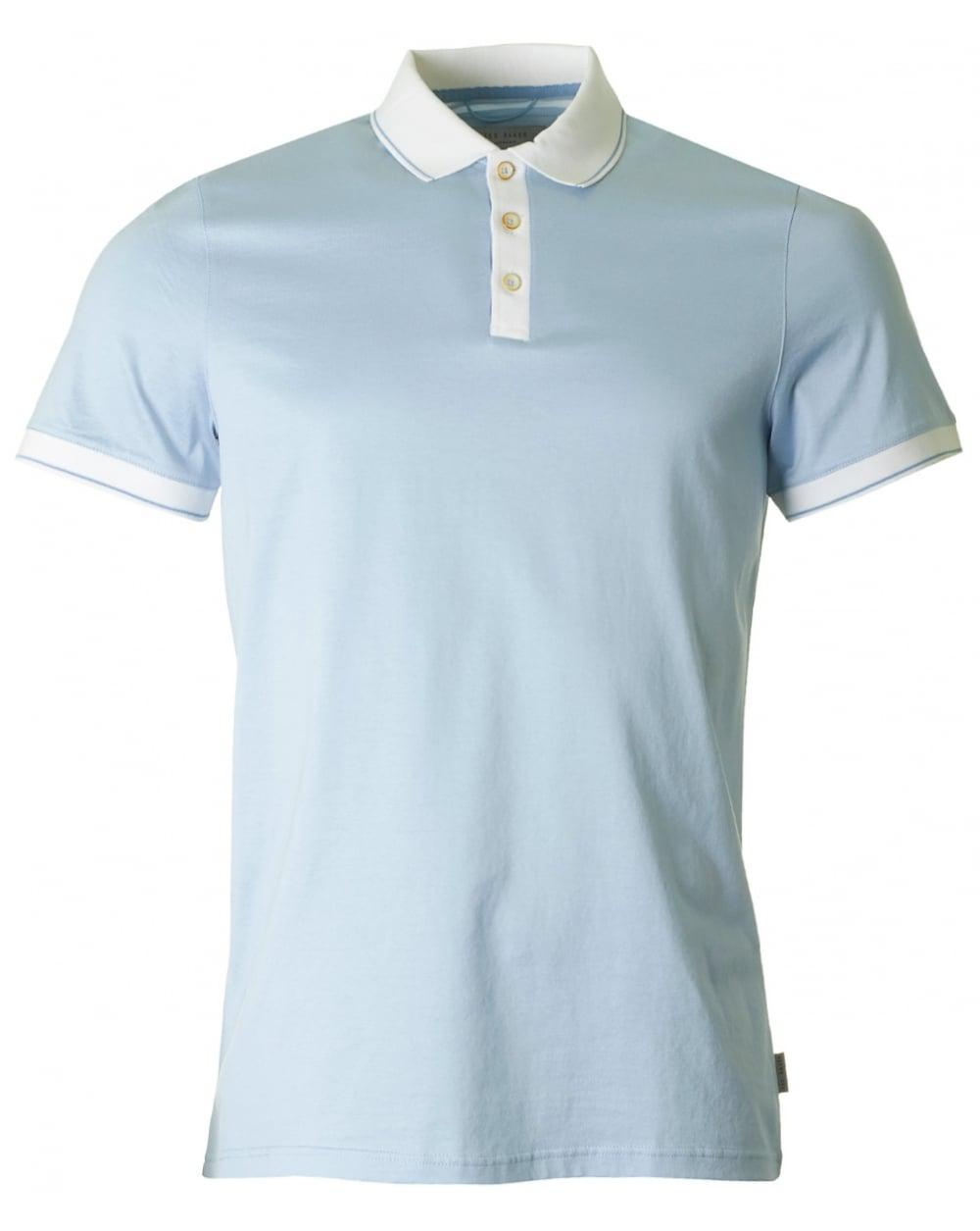 55f0f2f59e8aff Lyst - Ted Baker Staffy Contrast Collar Polo in Blue for Men
