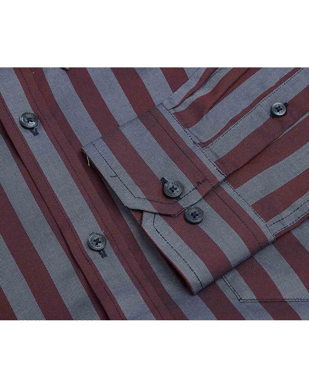 Ben Sherman Long Sleeve Oxford Polka DOT Shirt Camicia Uomo