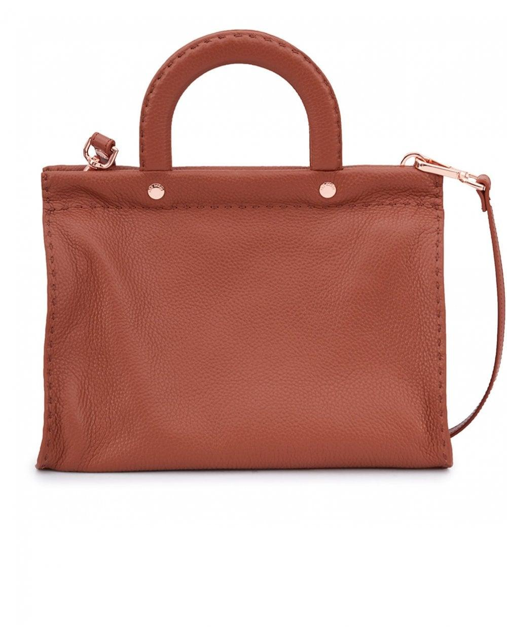 ac701a6b6d Ted Baker Leather Stitch Detail Small Tote Bag in Brown - Lyst