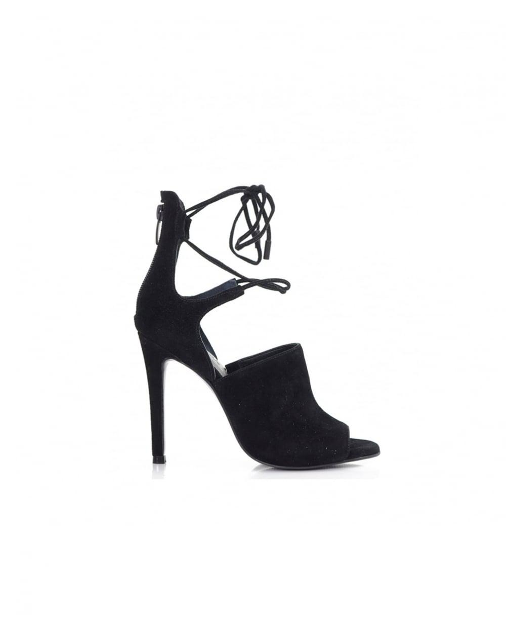 72b1e29b4fb Lyst - Kendall + Kylie Lace Ankle Suede Sandals in Black