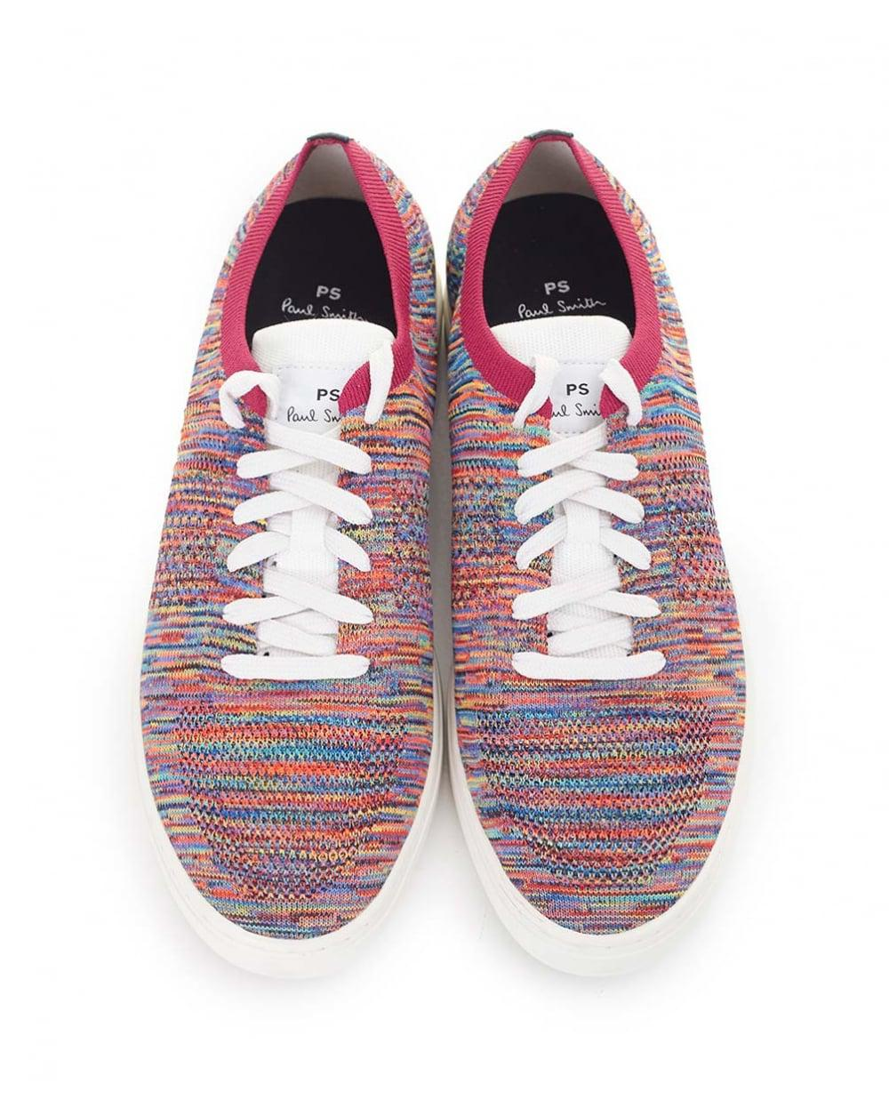 1e11121eed Lyst - Paul Smith Doyle Multi Colour Knit Mesh Trainers for Men