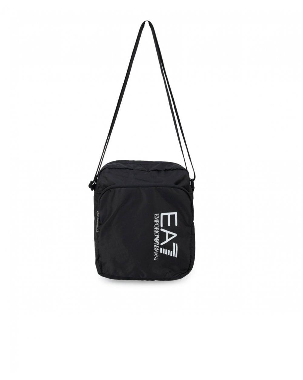 EA7 Train Prime Pouch Side Logo Large Bag in Black for Men - Lyst 5604858a7d64b