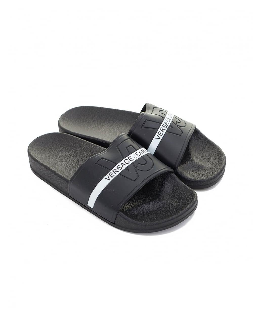 077da5fbc35b Lyst - Versace Jeans Sliders in Black for Men