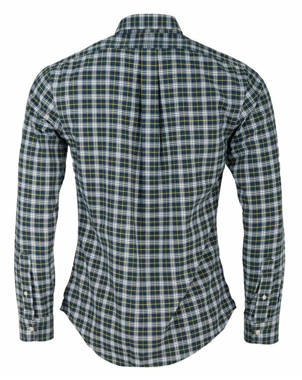 aae7ca641 Lyst - Polo Ralph Lauren Small Multi Check Slim Fit Shirt in Green for Men