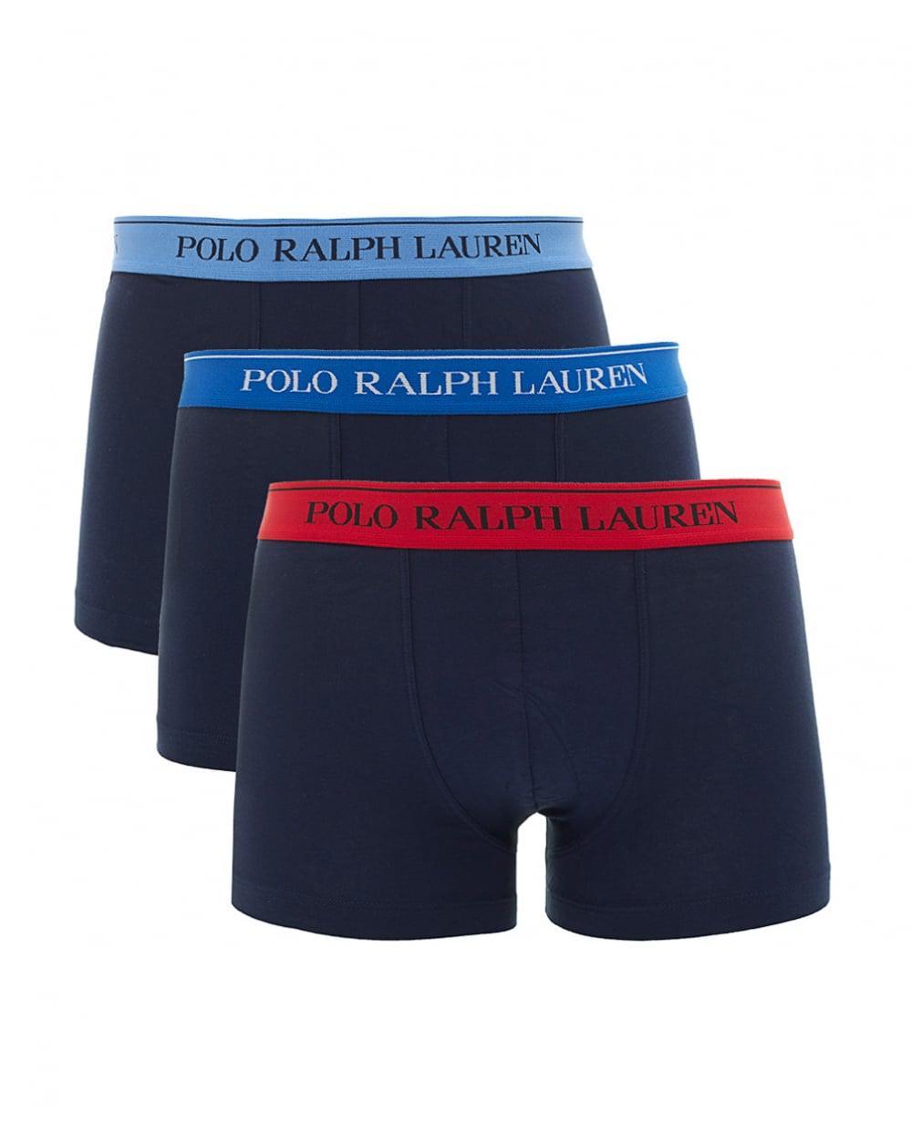 Polo Ralph Lauren - Blue Three Pack Of Boxer Shorts for Men - Lyst. View  fullscreen