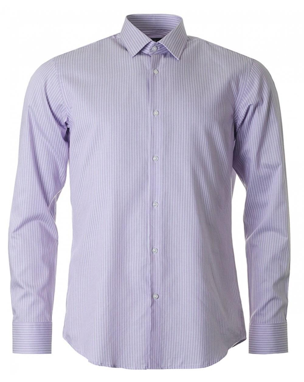 8710fa118 Lyst - BOSS Enzo Regular Fit Striped Shirt in Purple for Men