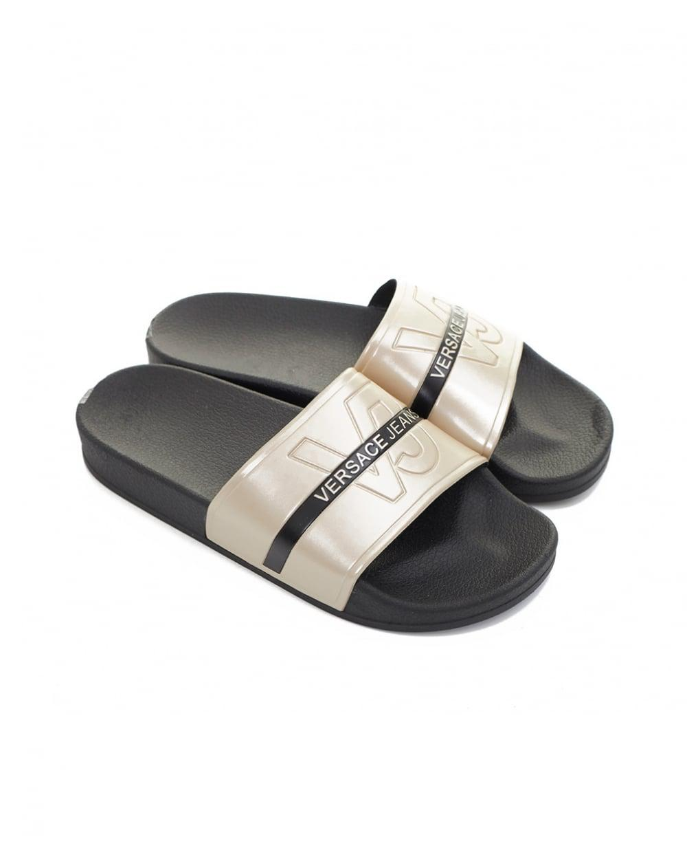 a07230e3daa7 Versace Jeans Sliders in Black for Men - Lyst
