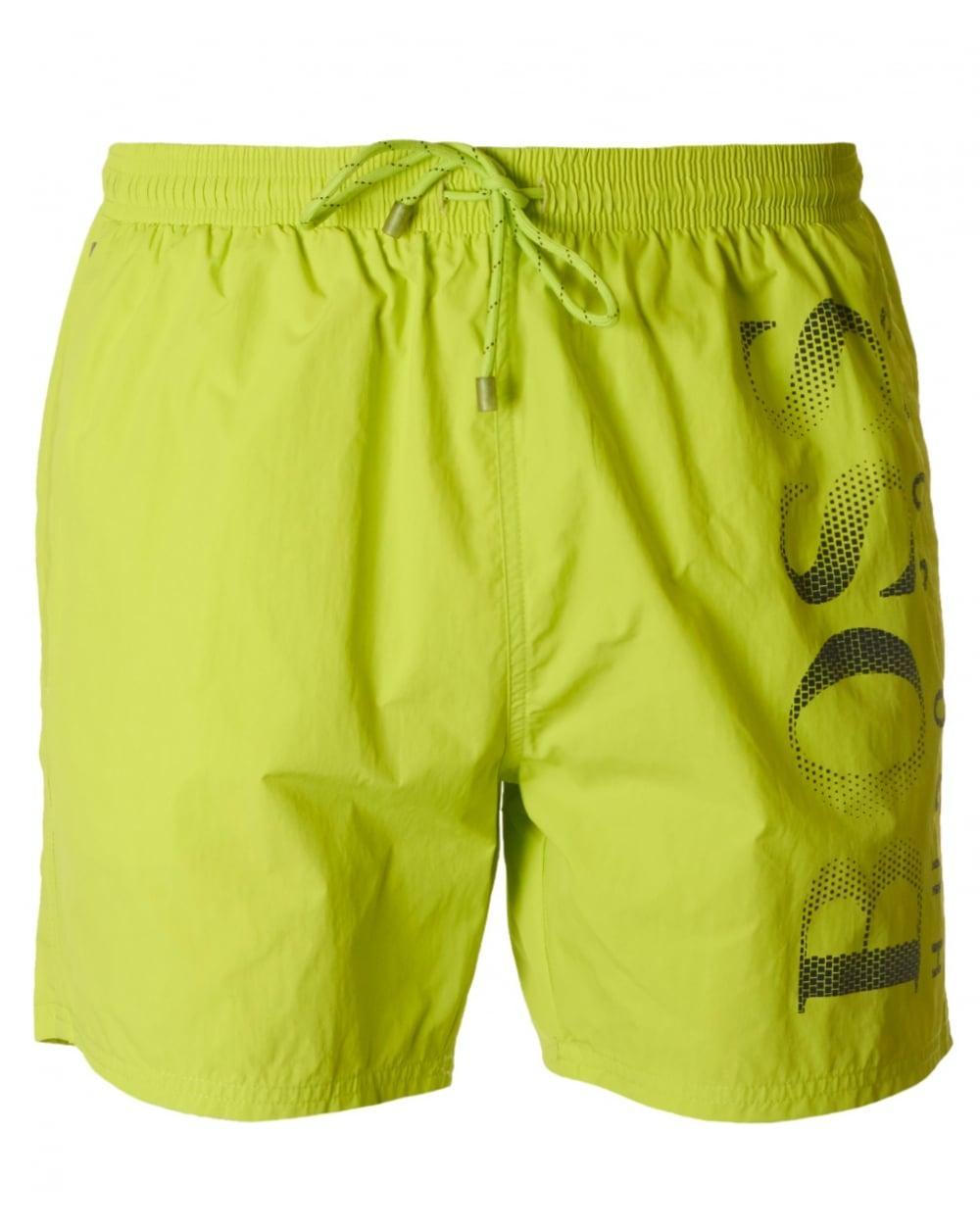 1ed006fb6e BOSS by Hugo Boss Octopus Swim Shorts in Yellow for Men - Lyst