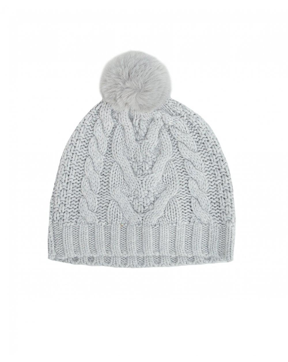 61a3fa5ef58 Lyst - Ted Baker Quirsa Cable Knit Pom Hat in Gray - Save 30%