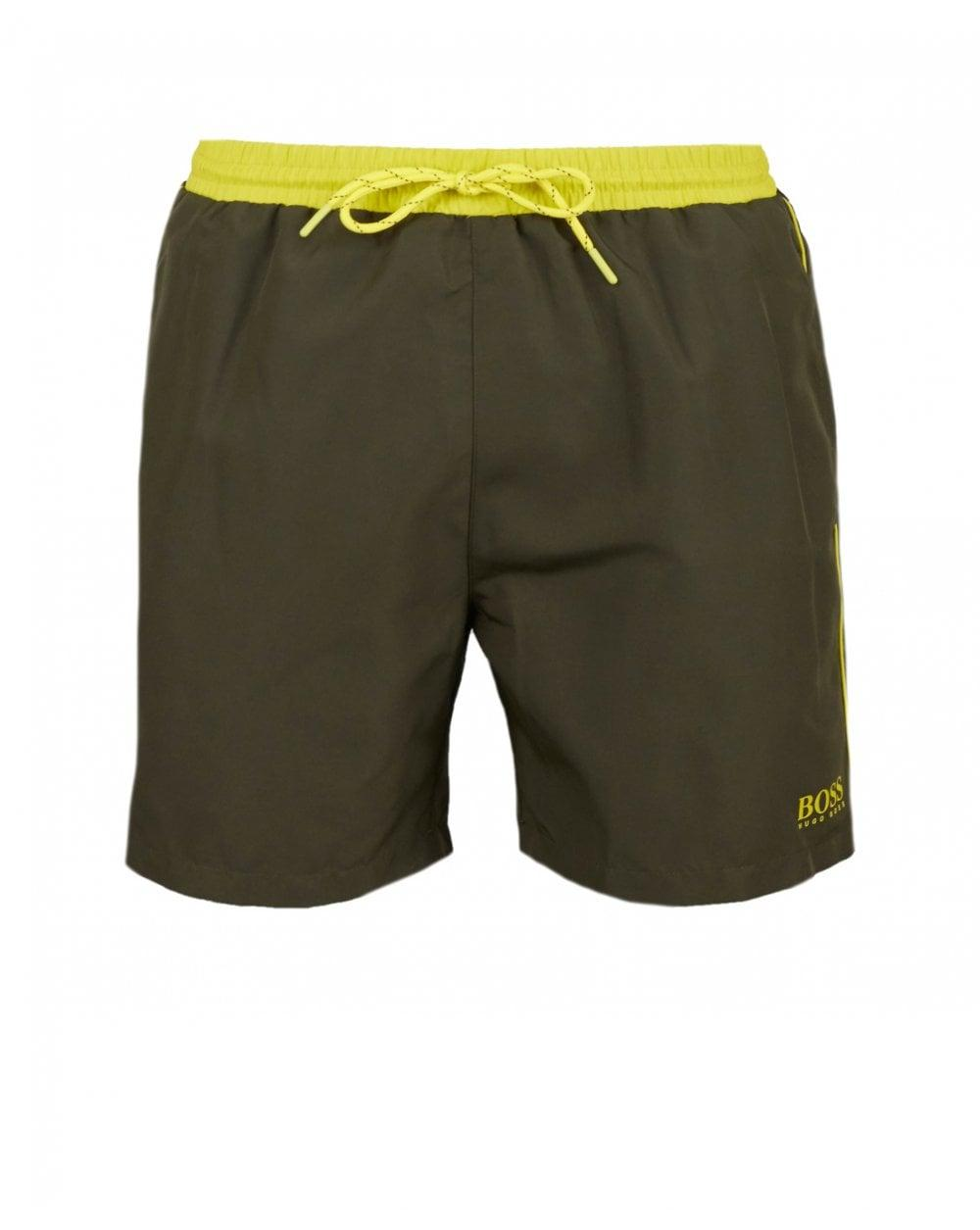 99f1991d6fed7 BOSS by Hugo Boss Starfish Swim Shorts in Green for Men - Lyst