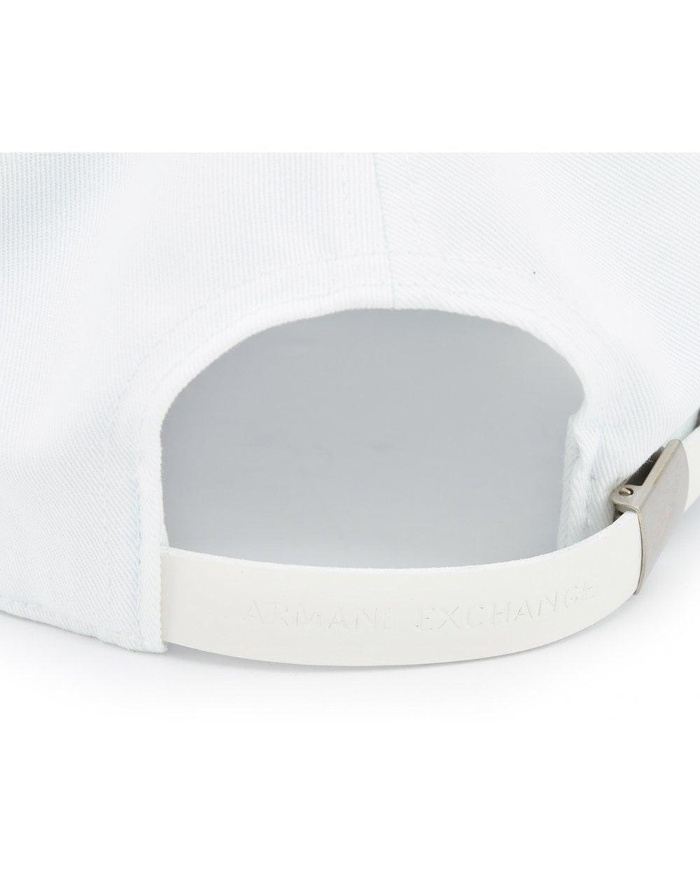 5628b54e974 Lyst - Armani Exchange Logo Cap in White for Men