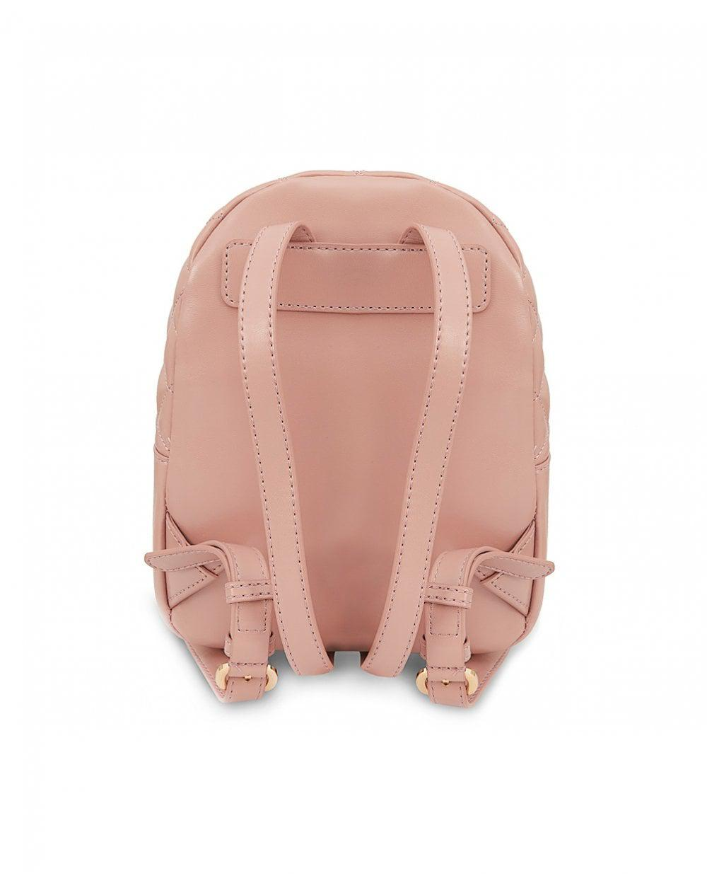 62be94a65b15 Lyst - Moschino Quilted Chain Detail Backpack in Pink