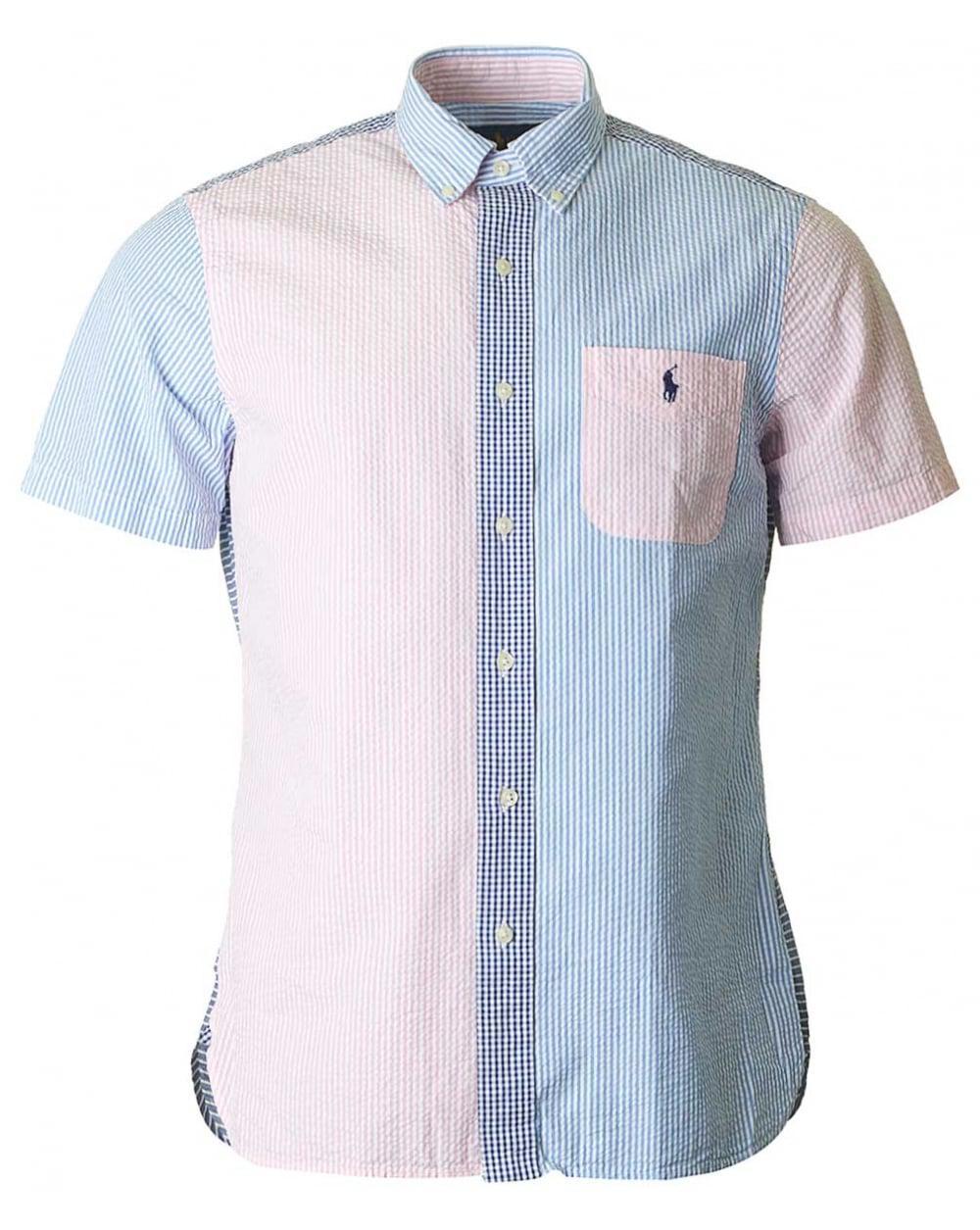 Slim-fit Button-down Collar Striped Cotton-seersucker Shirt Polo Ralph  Lauren