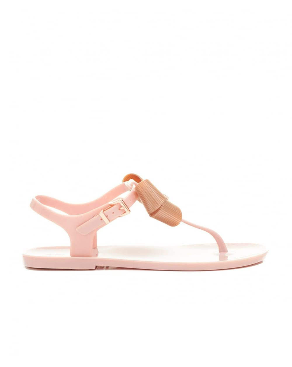 b4dad2dded882 Lyst - Ted Baker Bow Detail Jelly Sandals in Pink