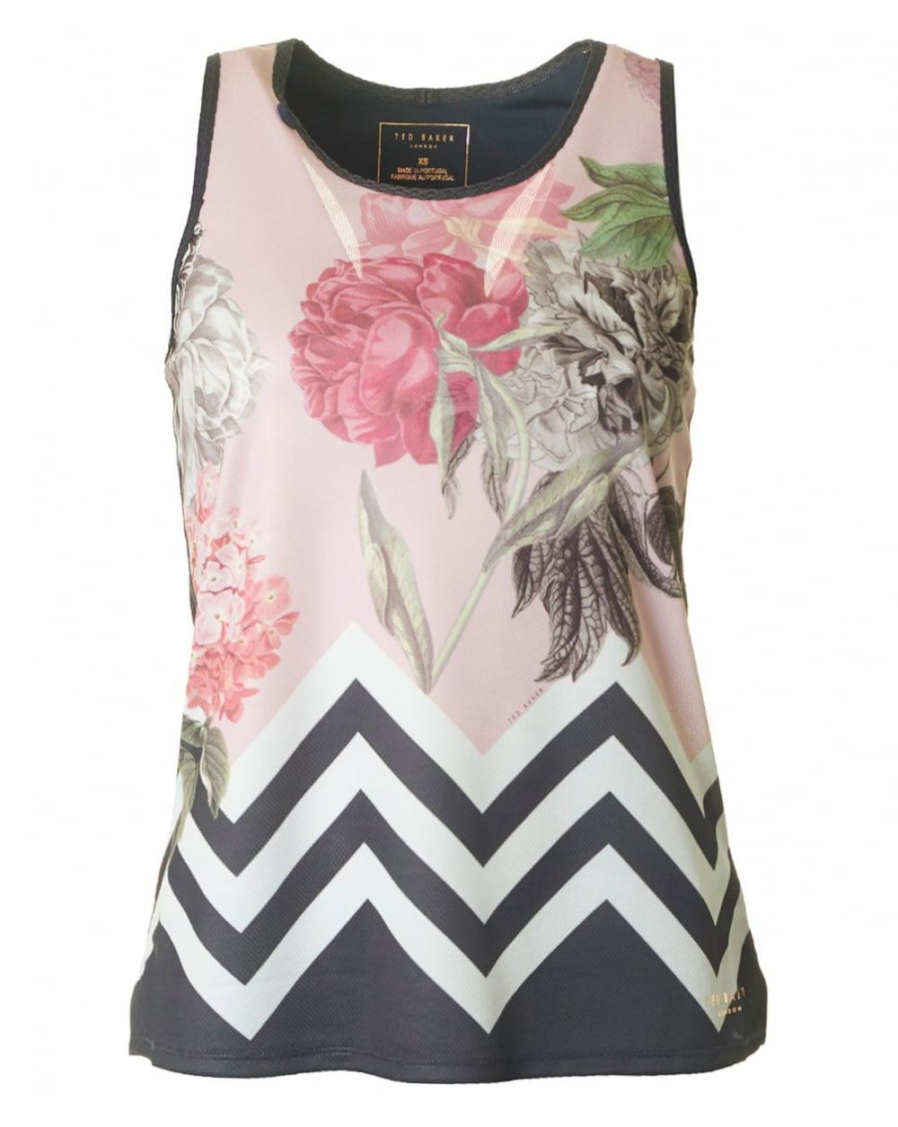 a6607feff0ad Ted Baker Palace Gardens Active Racer Back Vest - Lyst