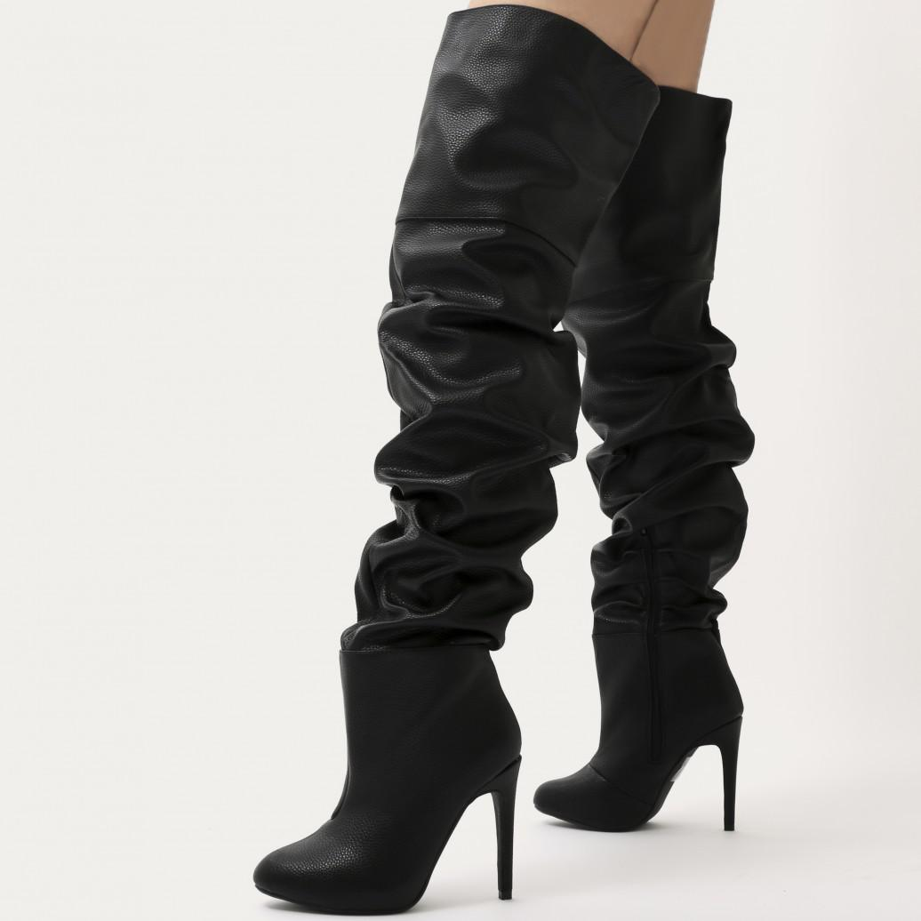 Lyst Public Desire Ciara Over The Knee Slouch Boots In