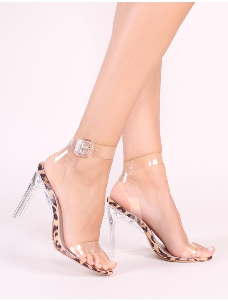 Slice Strappy Perspex High Heels