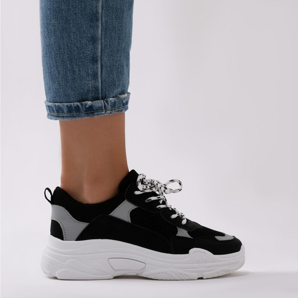 Public Desire Synthetic Fiyah Chunky Trainer Black