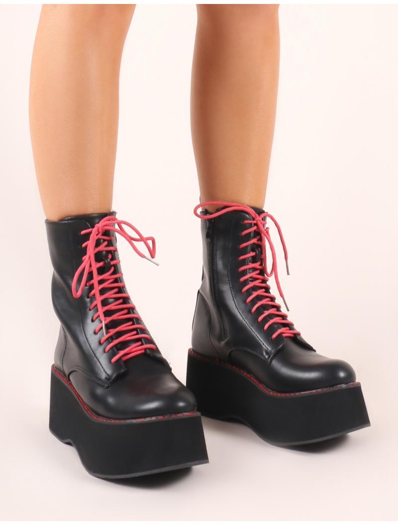 e5a3332f04e Public Desire Lolita Flatform Ankle Boots In Black