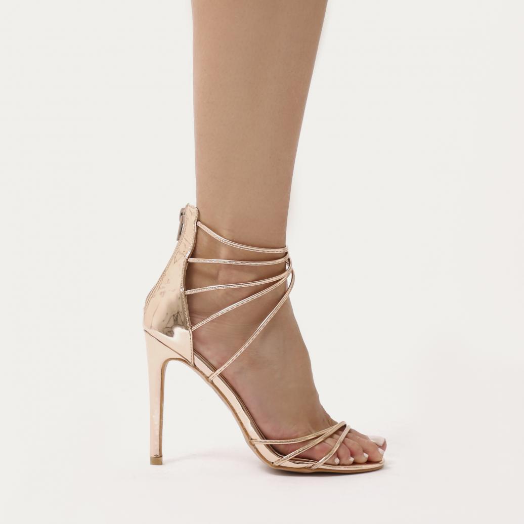 304400d29a01 Lyst - Public Desire Sense Spaghetti Strap Stiletto High Heels In ...