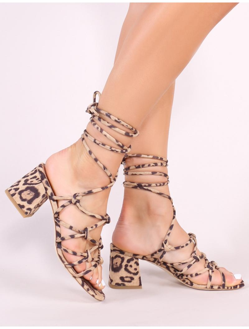 60c5ffc627e Public Desire. Women s Pink Freya Knotted Strappy Block Heeled Sandals ...