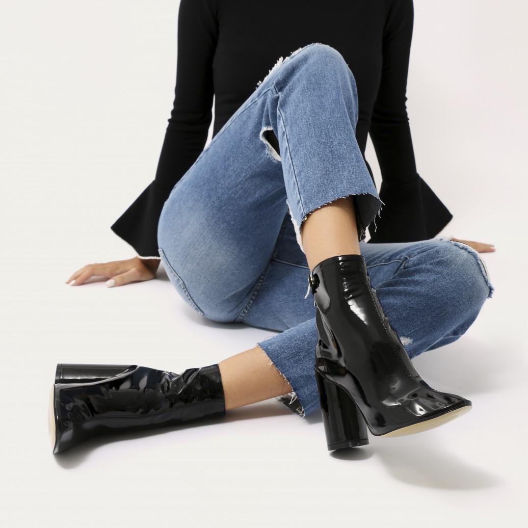 Lia Round Heel Ankle Boots